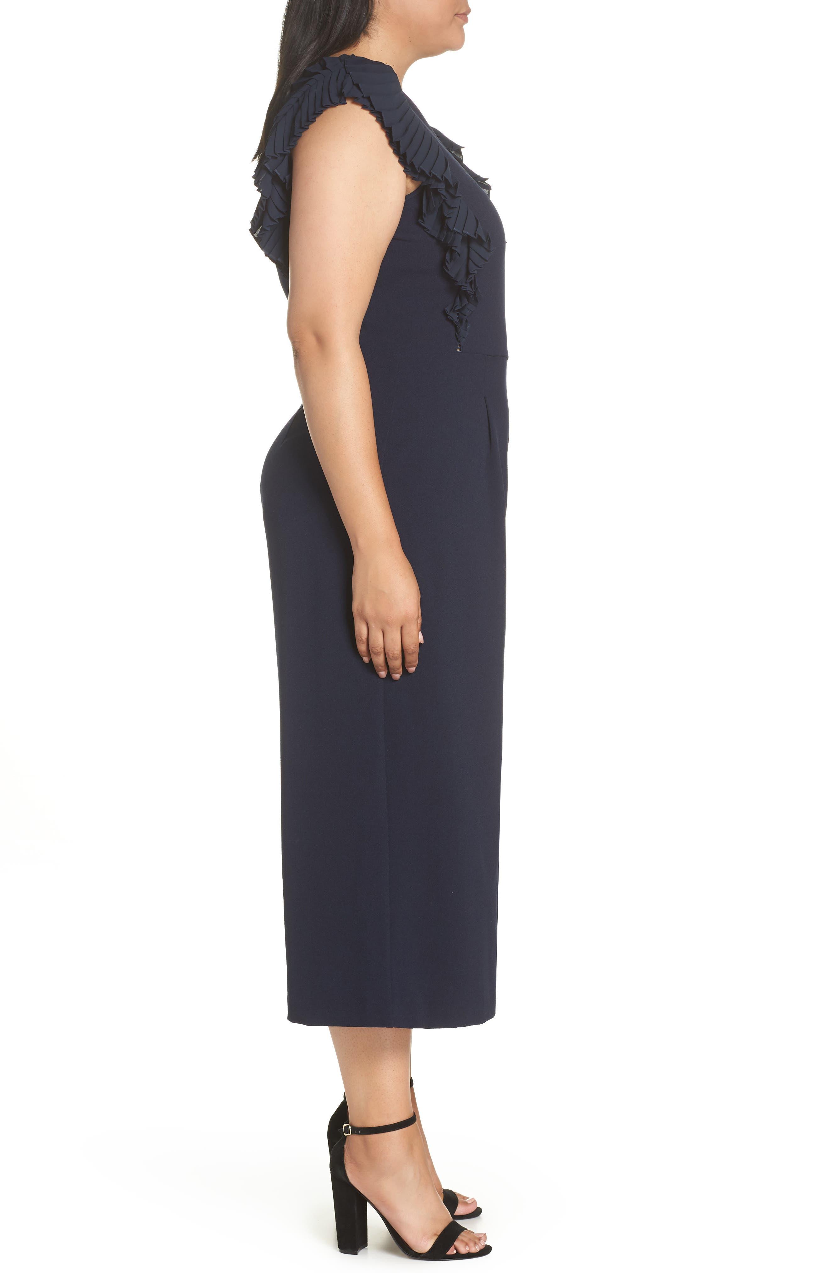 CHELSEA28, Pleat Shoulder Crop Jumpsuit, Alternate thumbnail 4, color, 401