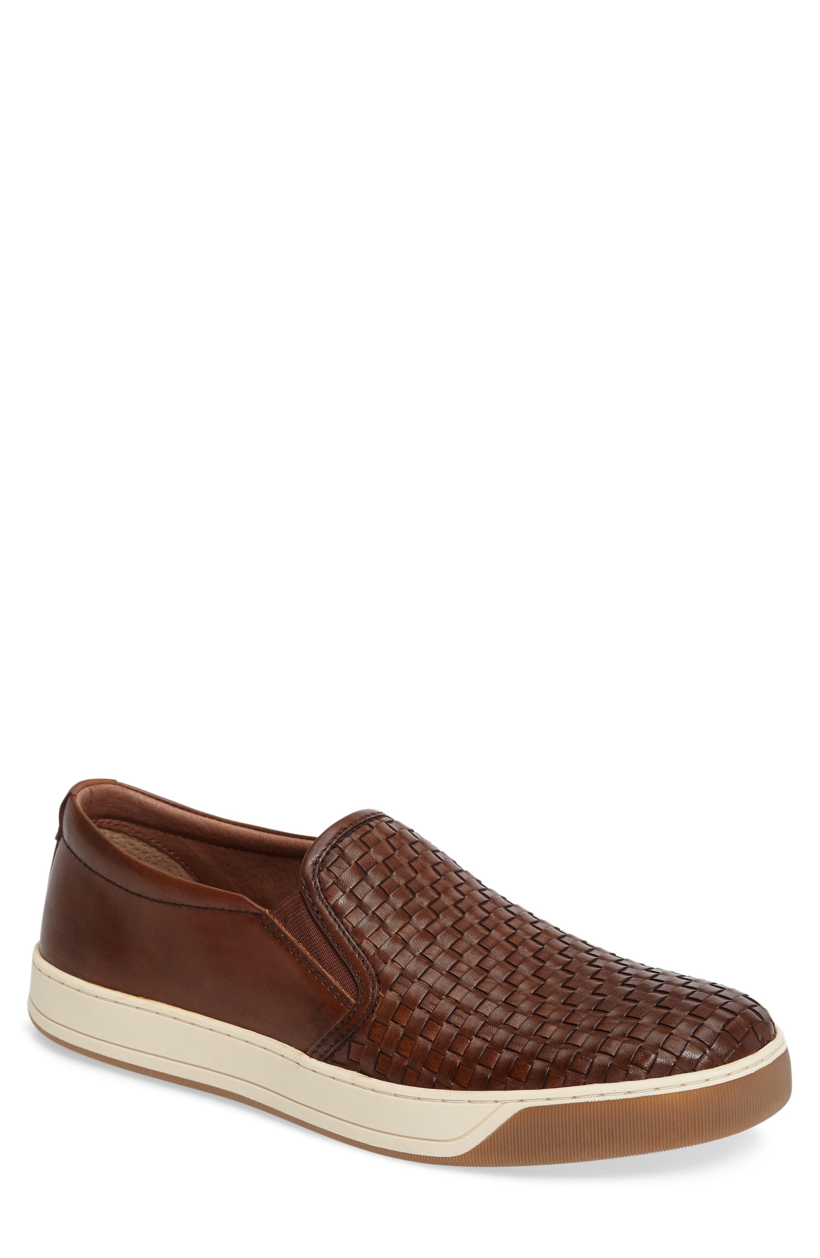 J&M 1850 Allister Slip-On Sneaker, Main, color, TAN LEATHER