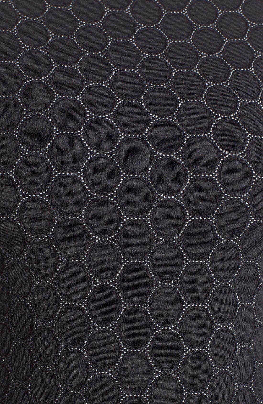 LEOTA, 'Circle' Jacquard Woven Jersey Dress, Alternate thumbnail 5, color, BLACK CAMEO CLOTH