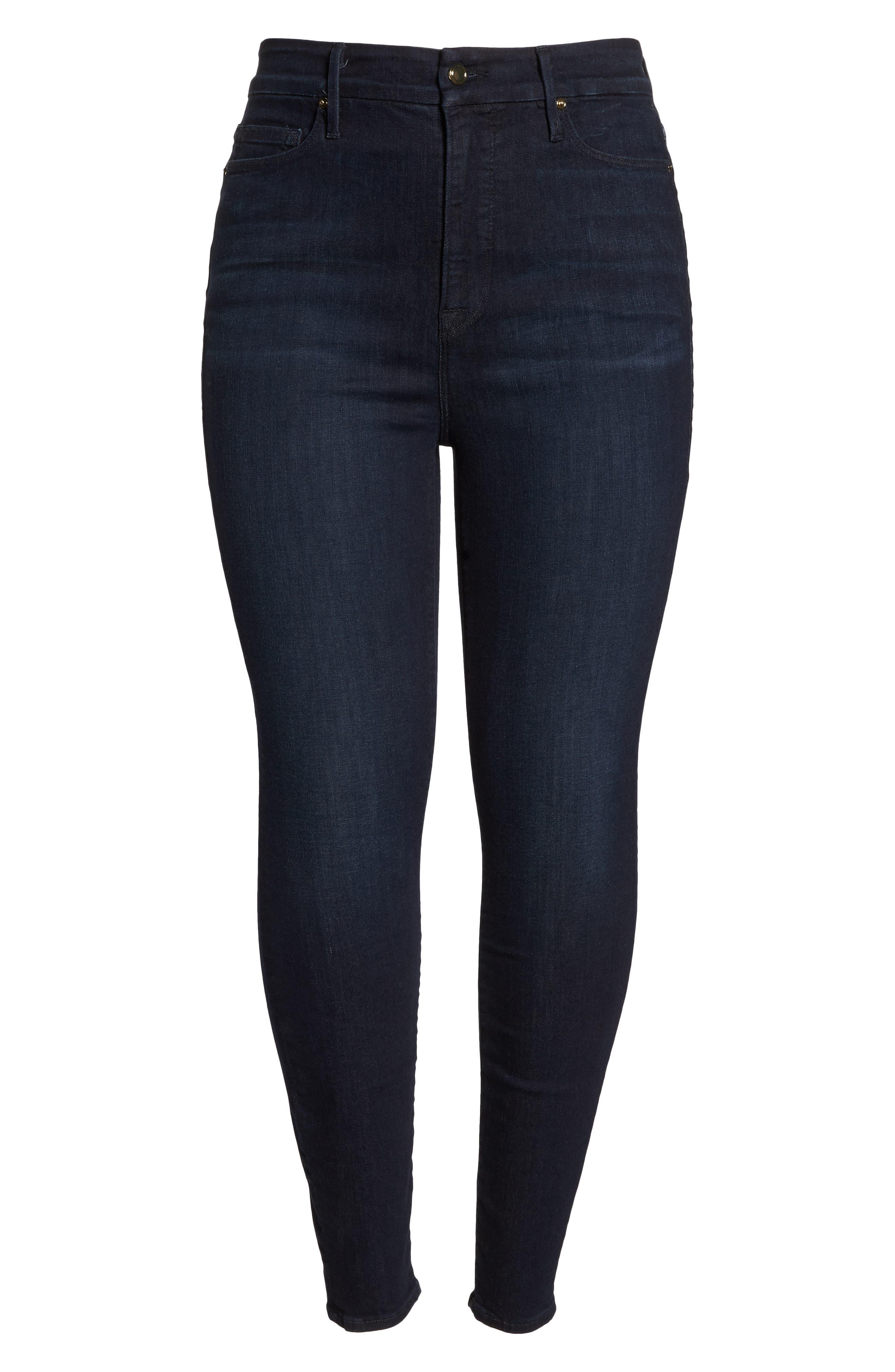 GOOD AMERICAN, Good Legs High Waist Skinny Jeans, Alternate thumbnail 13, color, BLUE224
