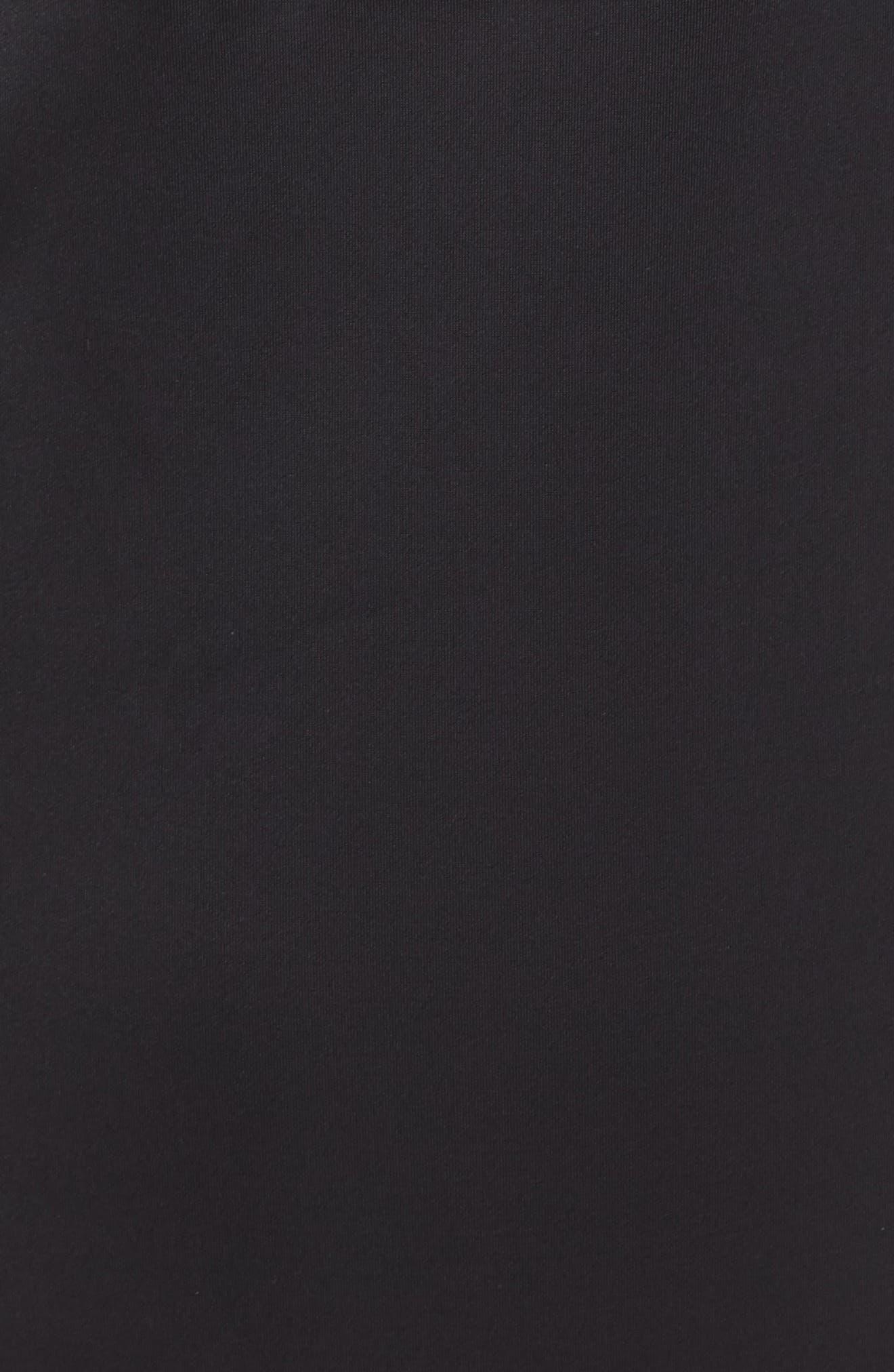 NORDSTROM LINGERIE, U-Plunge Backless Strapless Underwire Bodysuit, Alternate thumbnail 7, color, BLACK