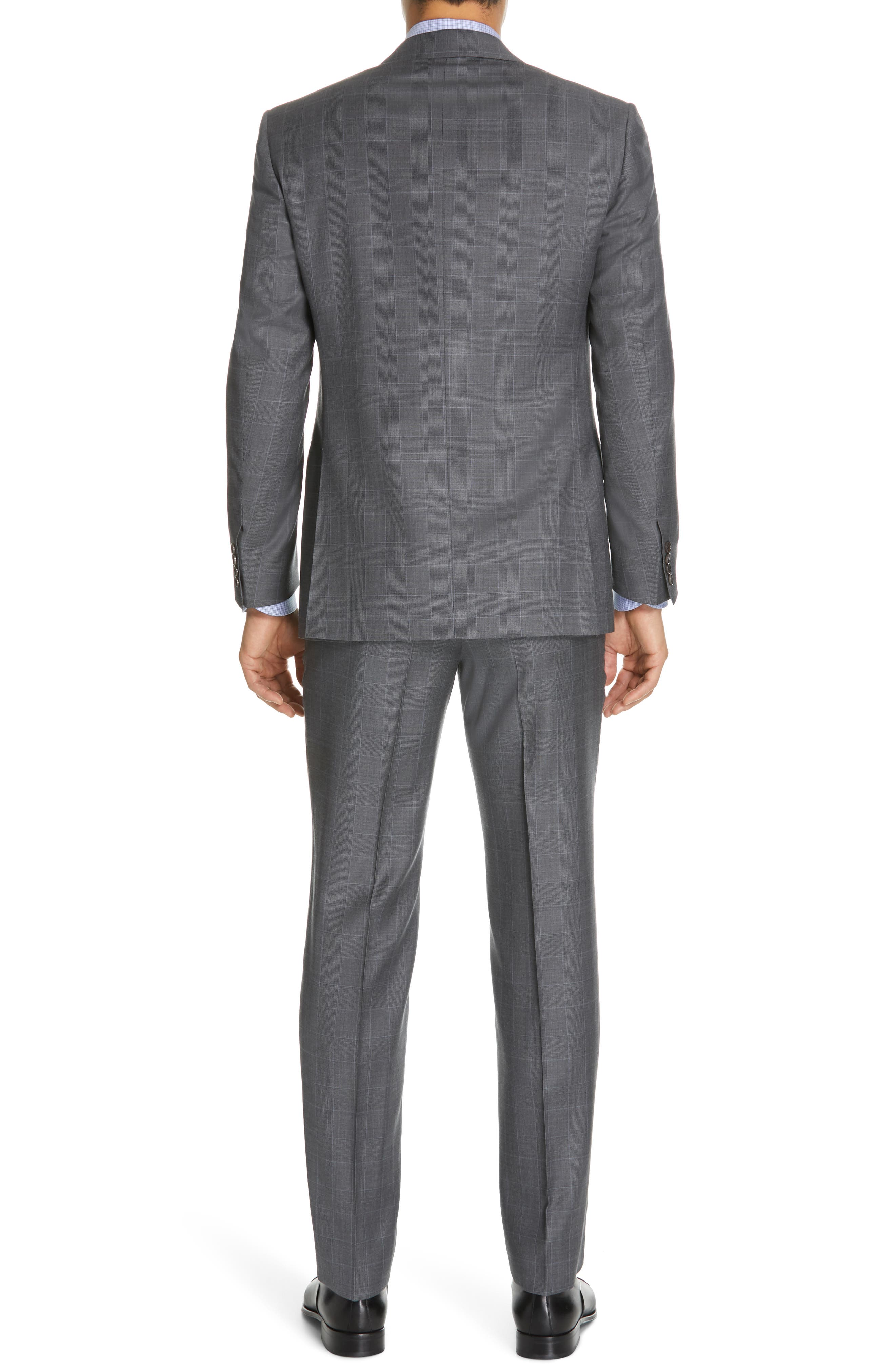 CANALI, Sienna Classic Fit Plaid Wool Suit, Alternate thumbnail 2, color, GREY