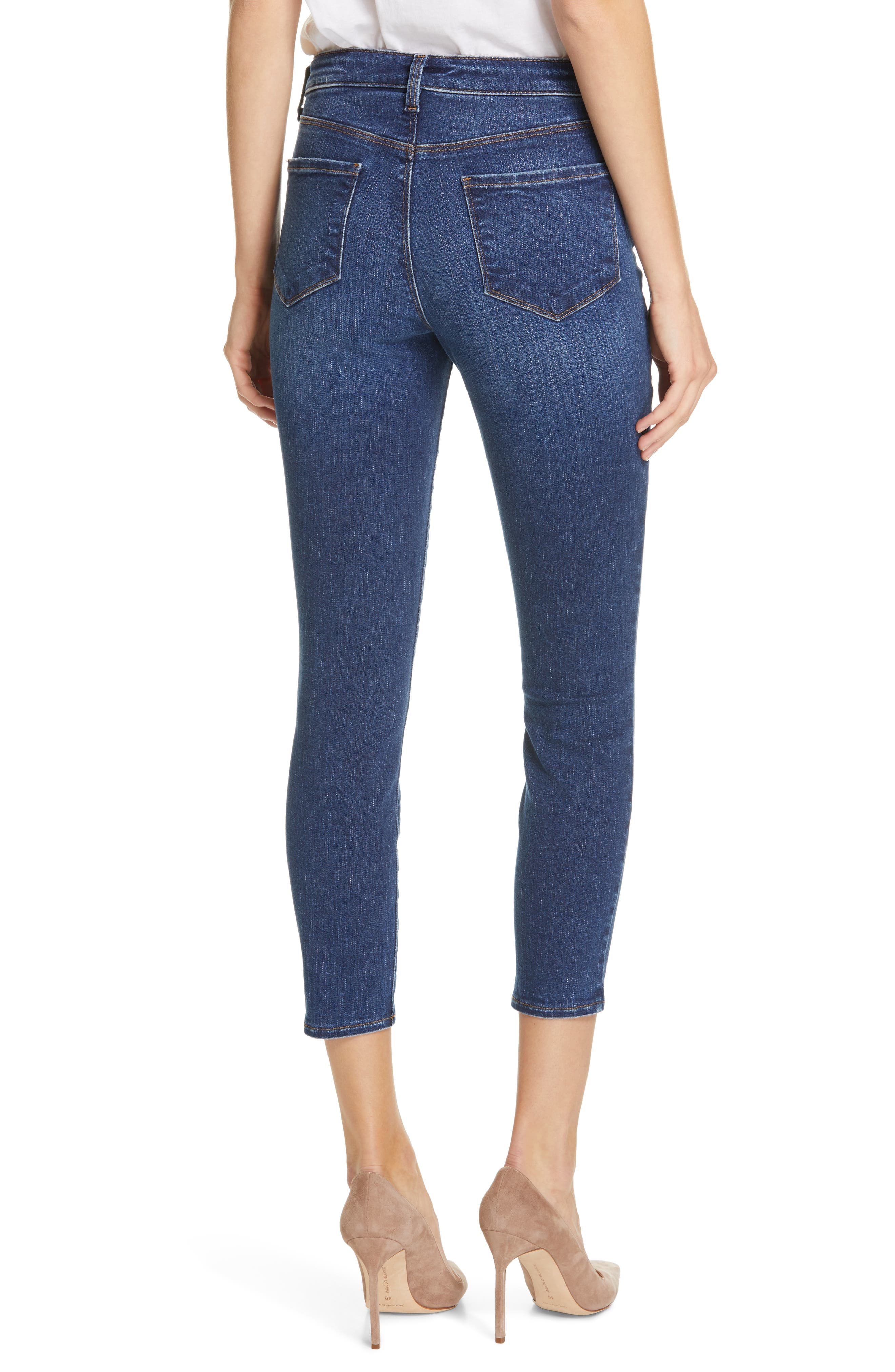 L'AGENCE, Margot Crop Skinny Jeans, Alternate thumbnail 2, color, TUSCAN