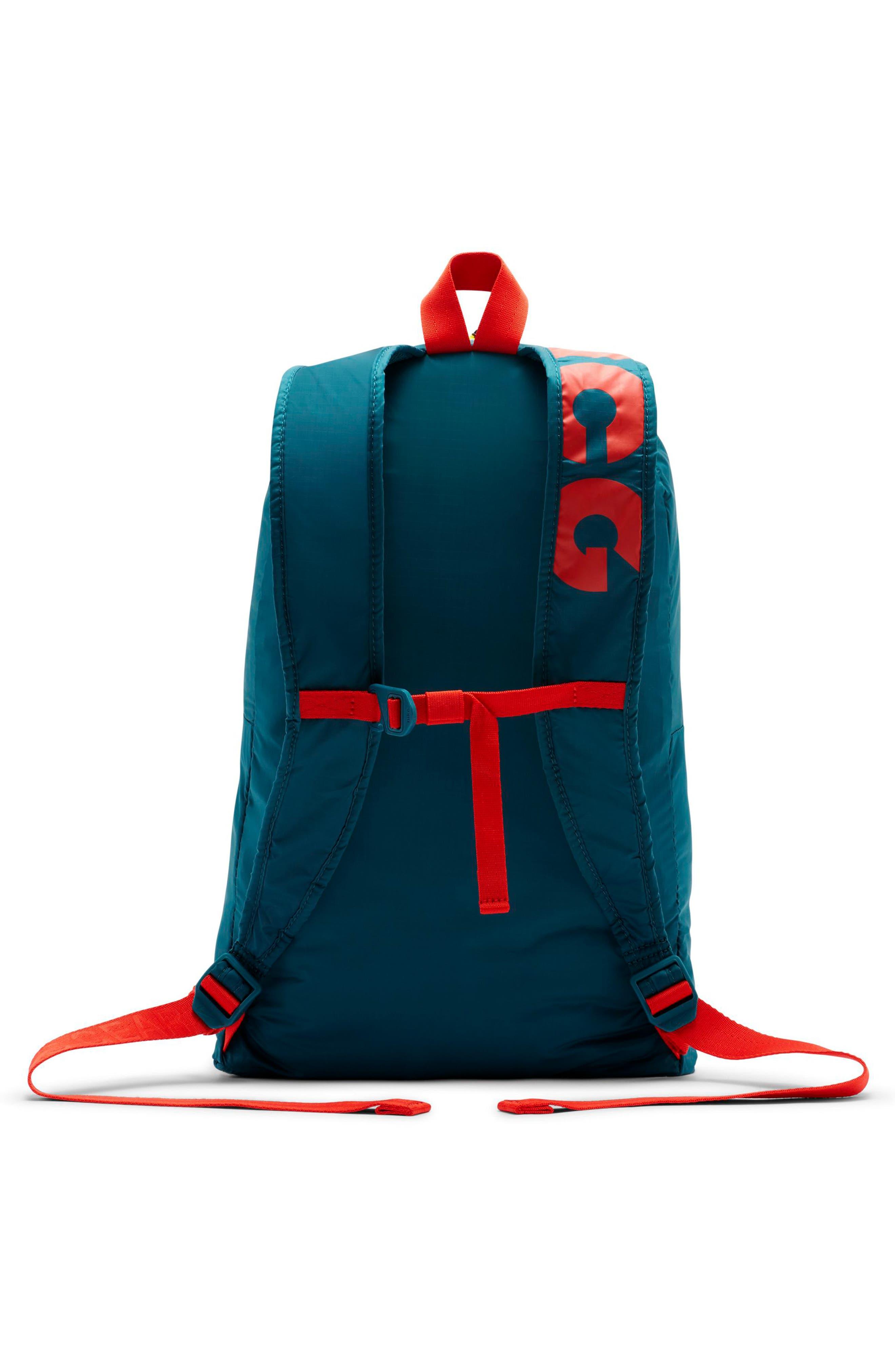 NIKE, ACG Packable Backpack, Alternate thumbnail 2, color, GEODE TEAL/ GEODE TEAL