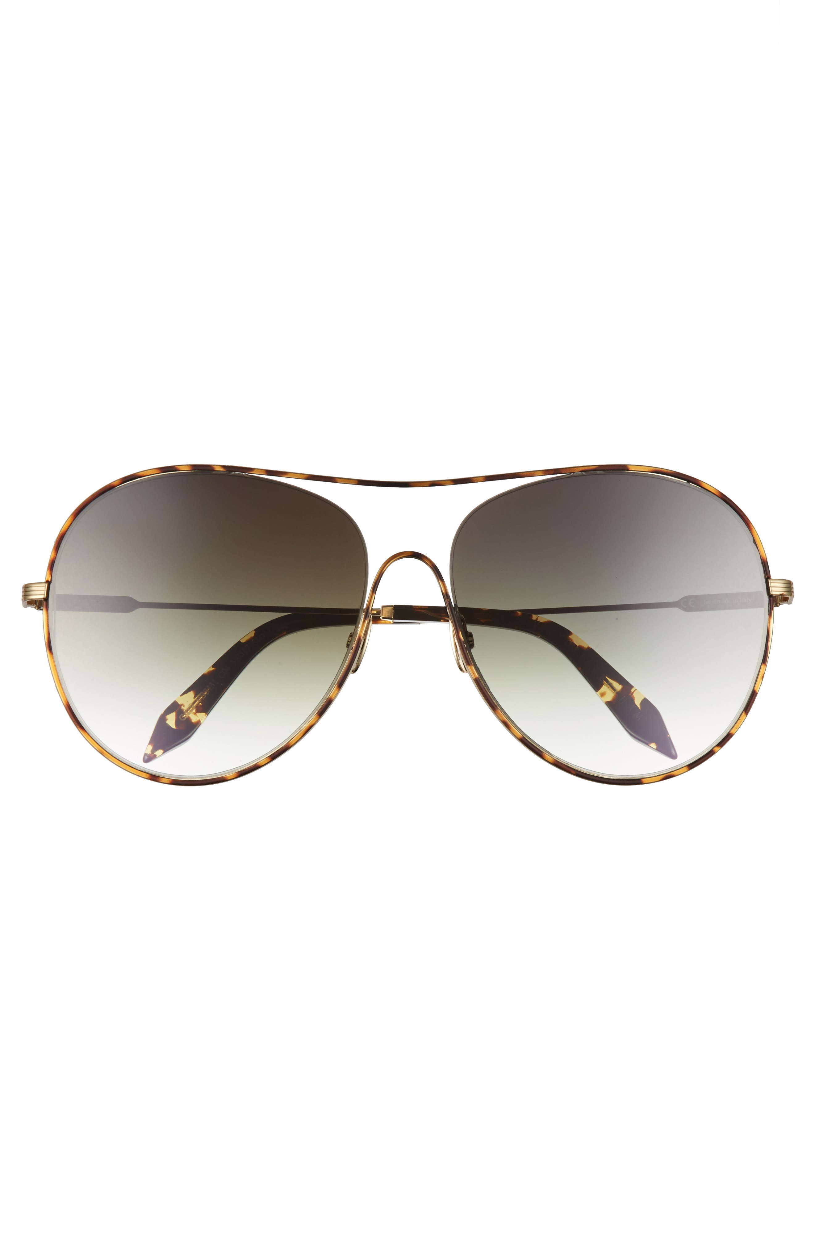 VICTORIA BECKHAM, Loop 63mm Oversize Round Sunglasses, Alternate thumbnail 3, color, AURORA