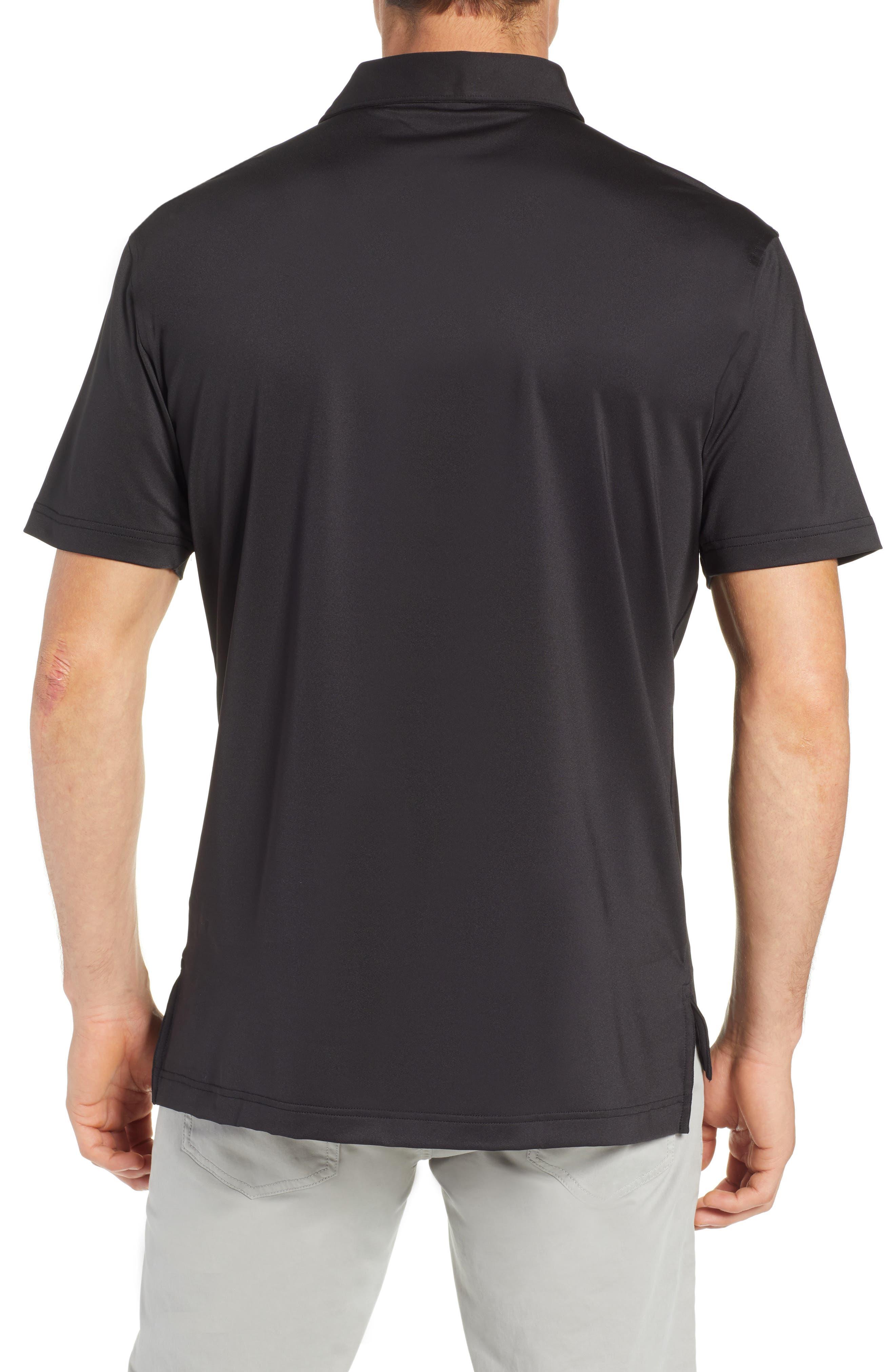 PETER MILLAR, Sean Regular Fit Stretch Jersey Polo, Alternate thumbnail 2, color, BLACK