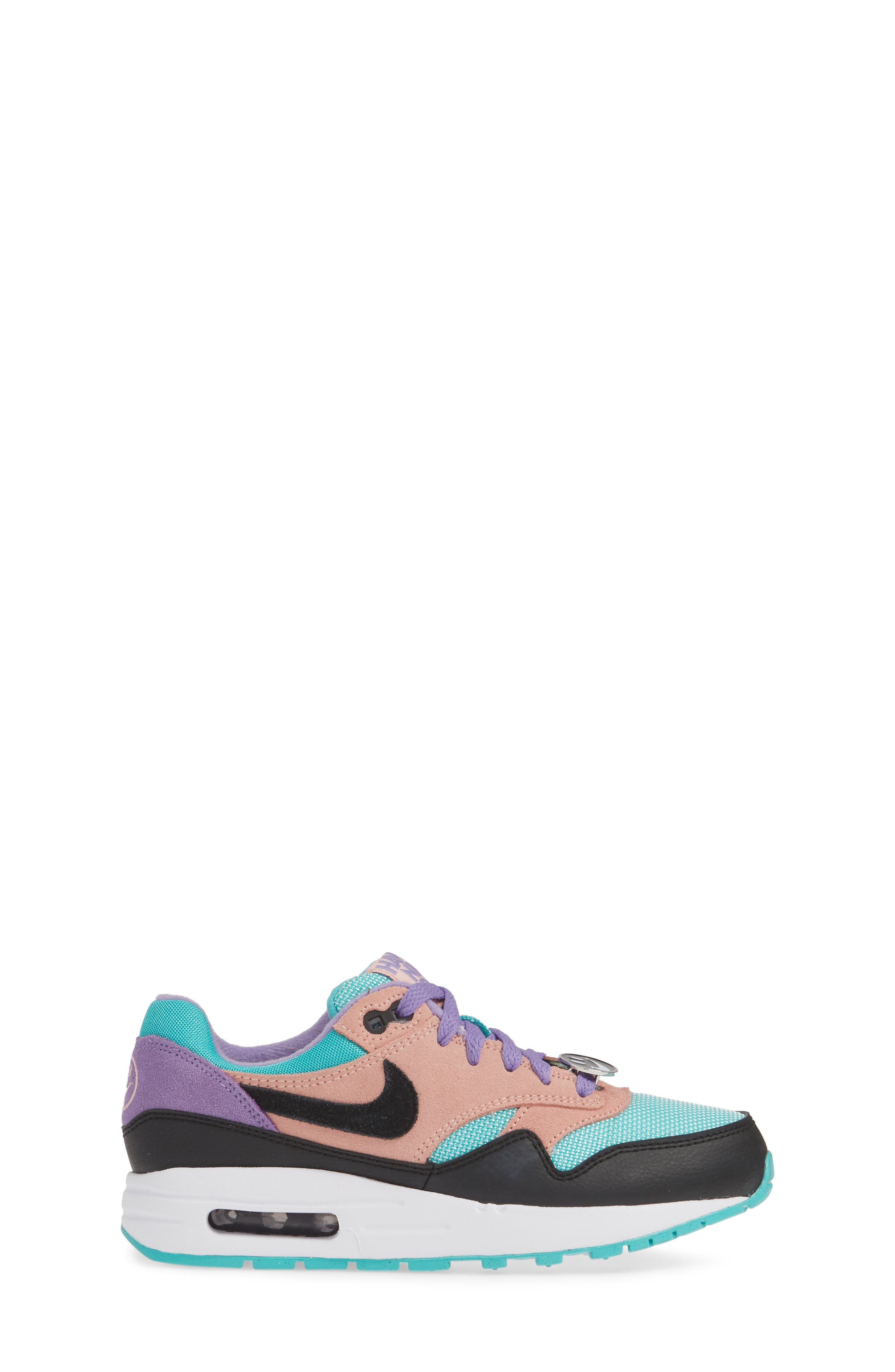 NIKE, Air Max 1 Have a Nike Day Sneaker, Alternate thumbnail 3, color, BLACK/ WHITE