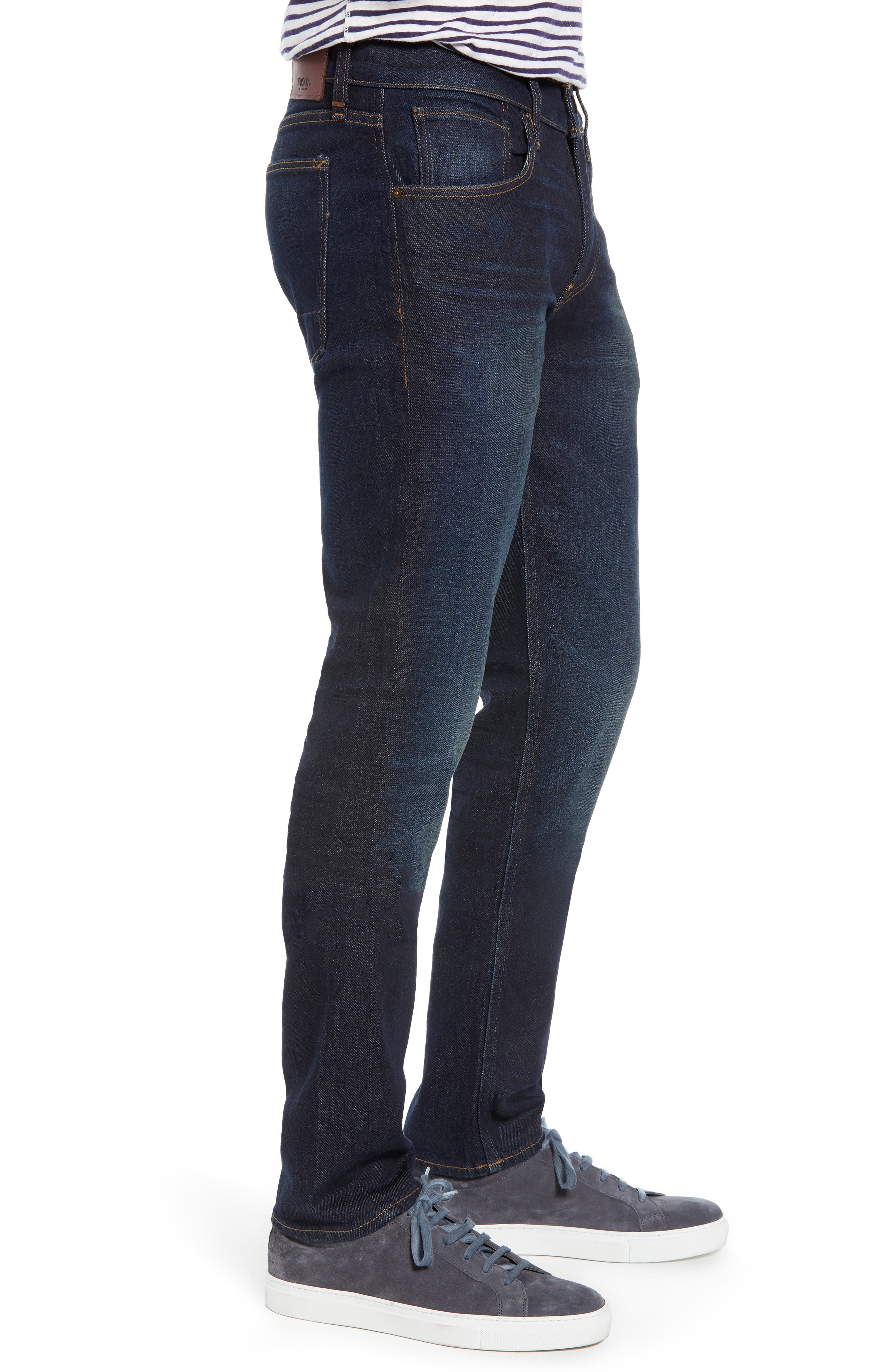 HUDSON JEANS, Blake Slim Fit Jeans, Alternate thumbnail 3, color, VERKLER