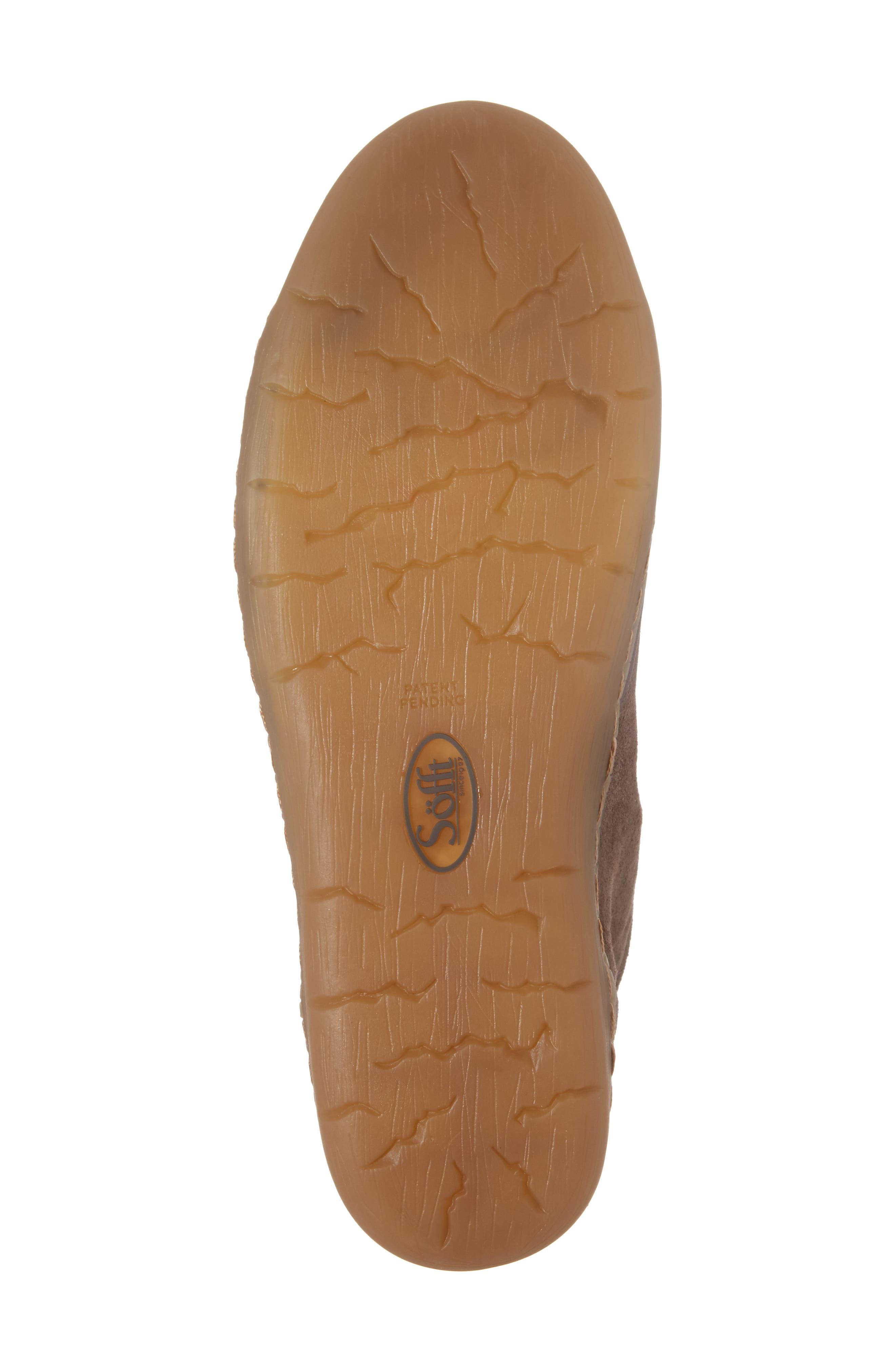 SÖFFT, Annaleigh High Top Sneaker, Alternate thumbnail 6, color, SMOKE FOIL SUEDE