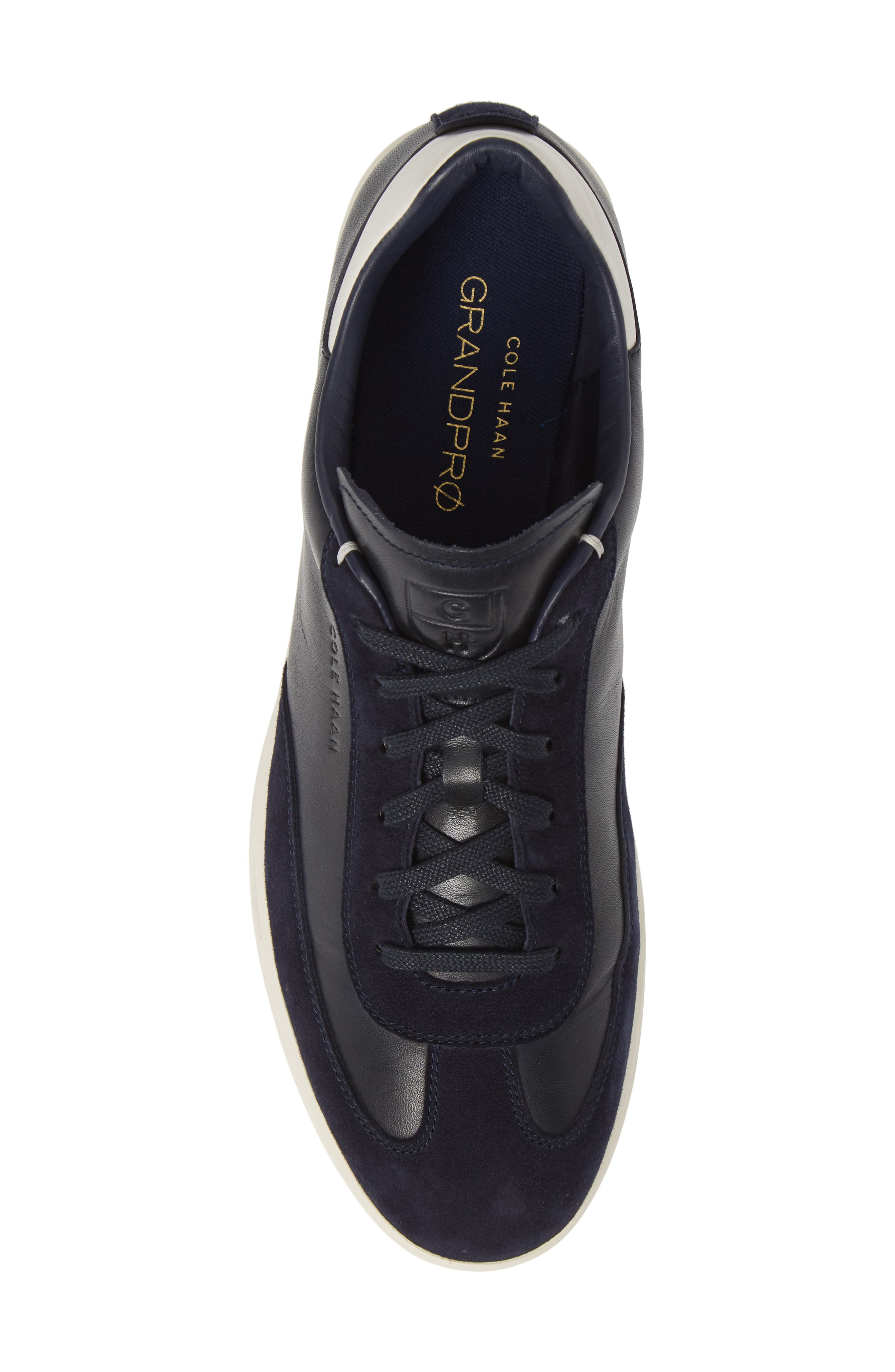 COLE HAAN, GrandPro Turf Sneaker, Alternate thumbnail 5, color, NAVY INK LEATHER