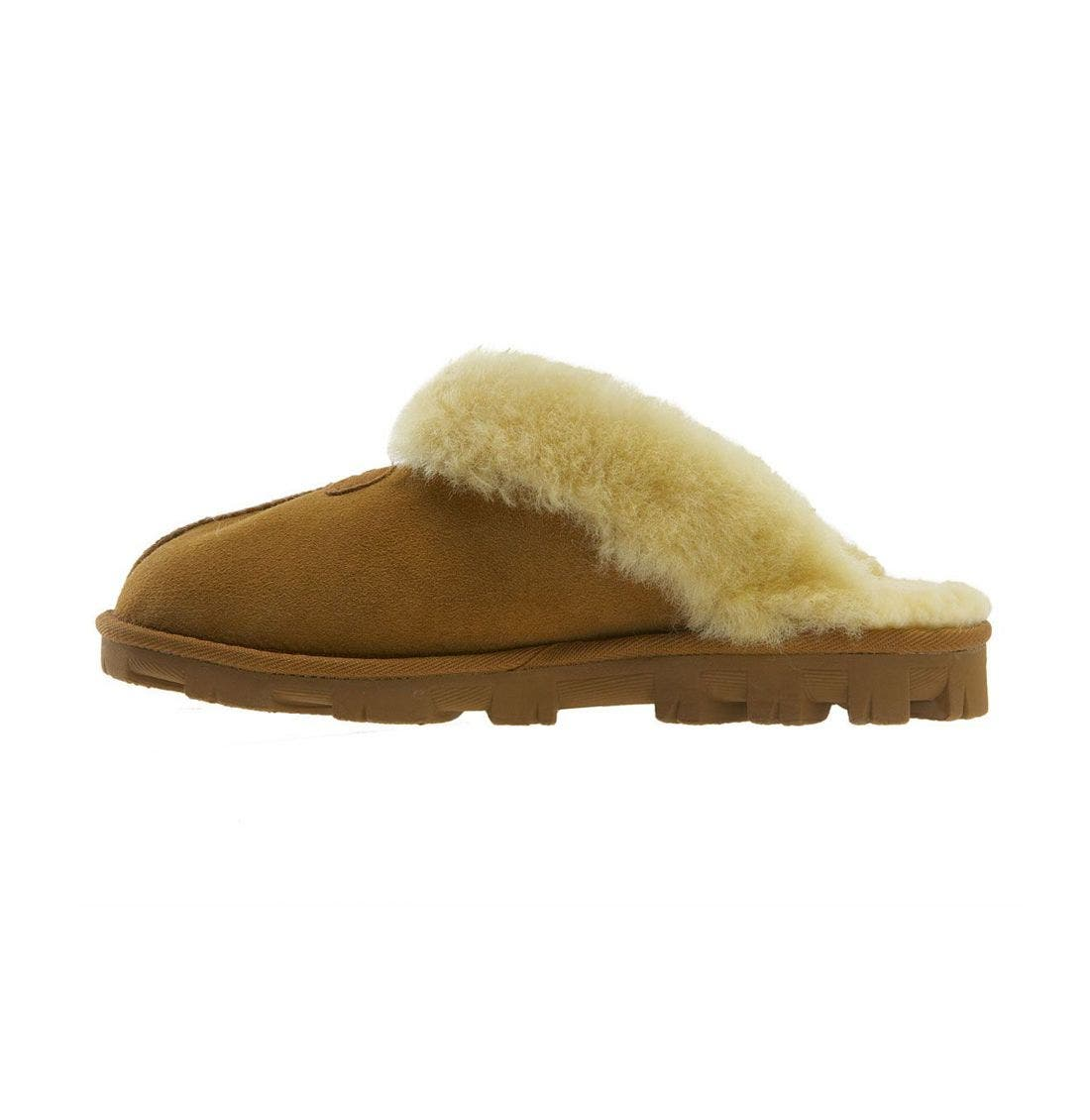 UGG<SUP>®</SUP>, Genuine Shearling Slipper, Alternate thumbnail 7, color, CHESTNUT