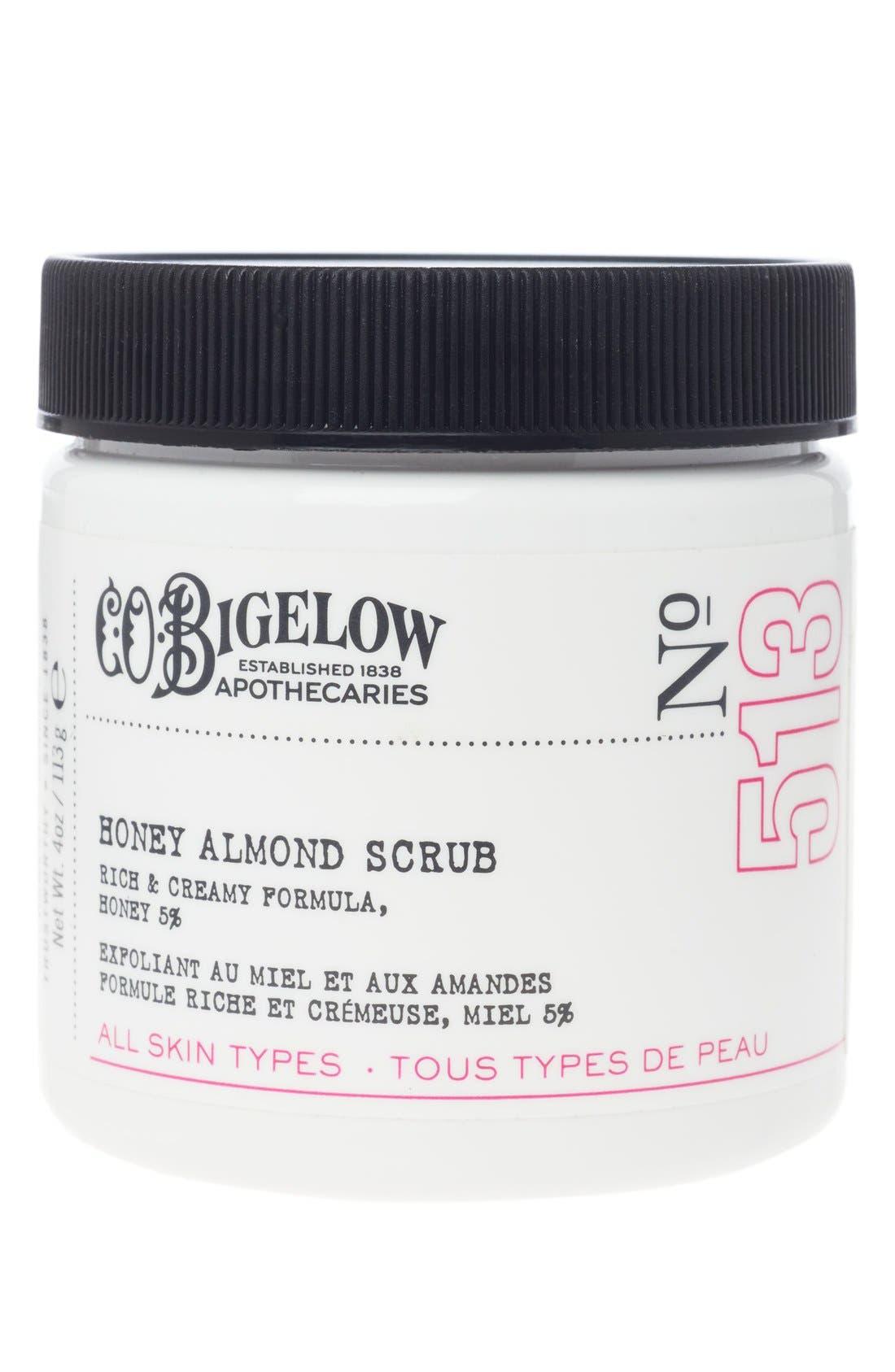 C.O. BIGELOW  Honey Almond Scrub, Main, color, NO COLOR