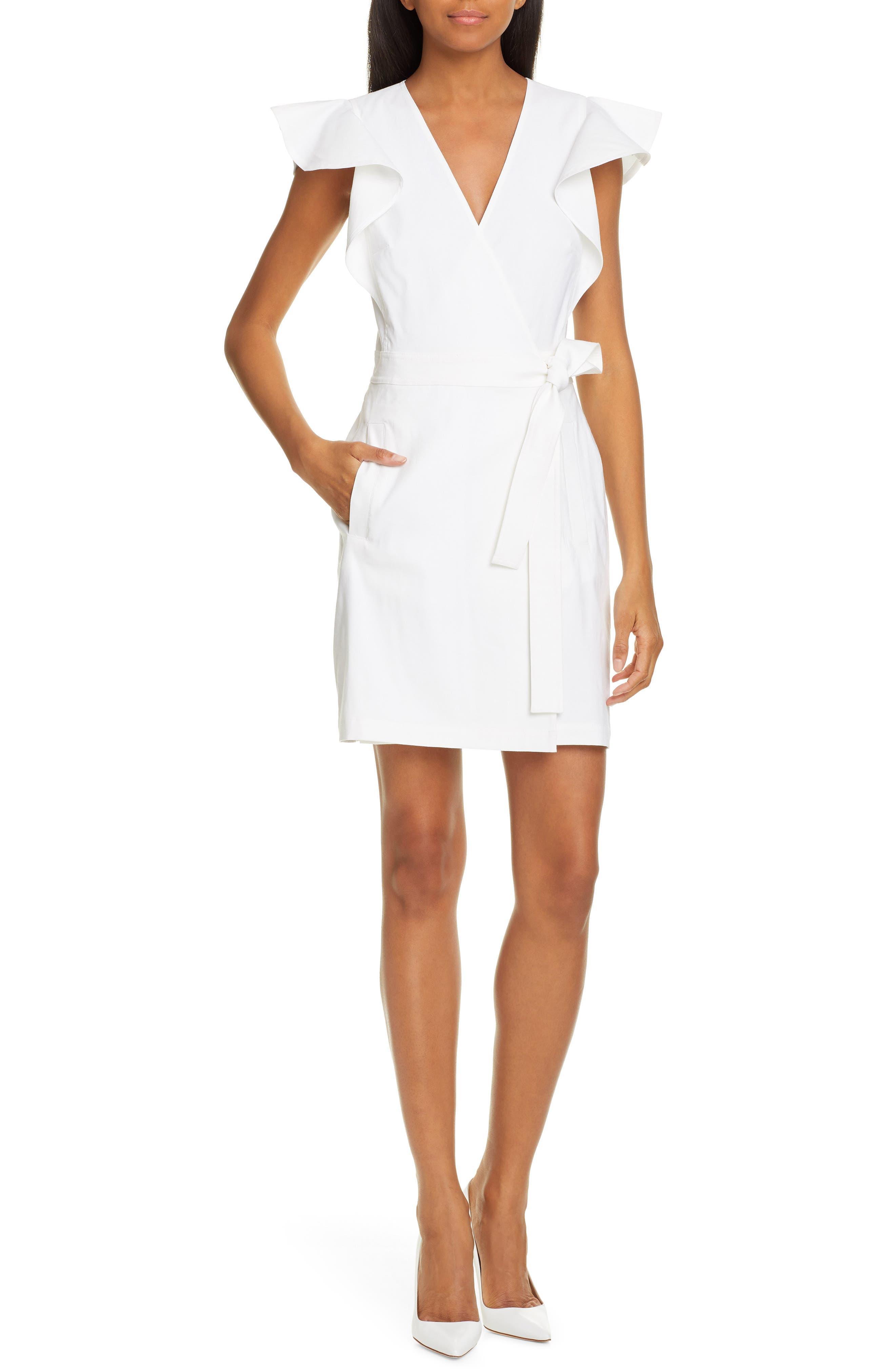 A.l.c. Sidelle Wrap Minidress, White