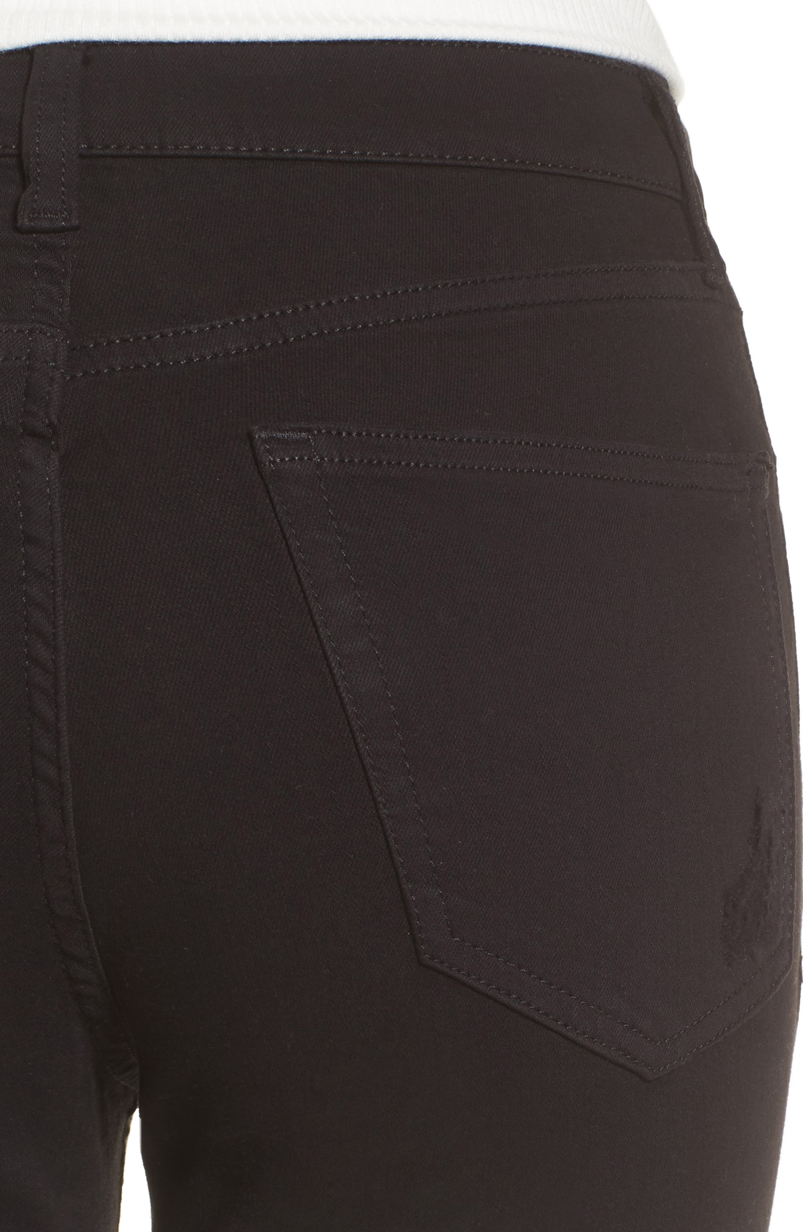 TOPSHOP, Moto 'Jamie' Ripped Skinny Jeans, Alternate thumbnail 5, color, 001
