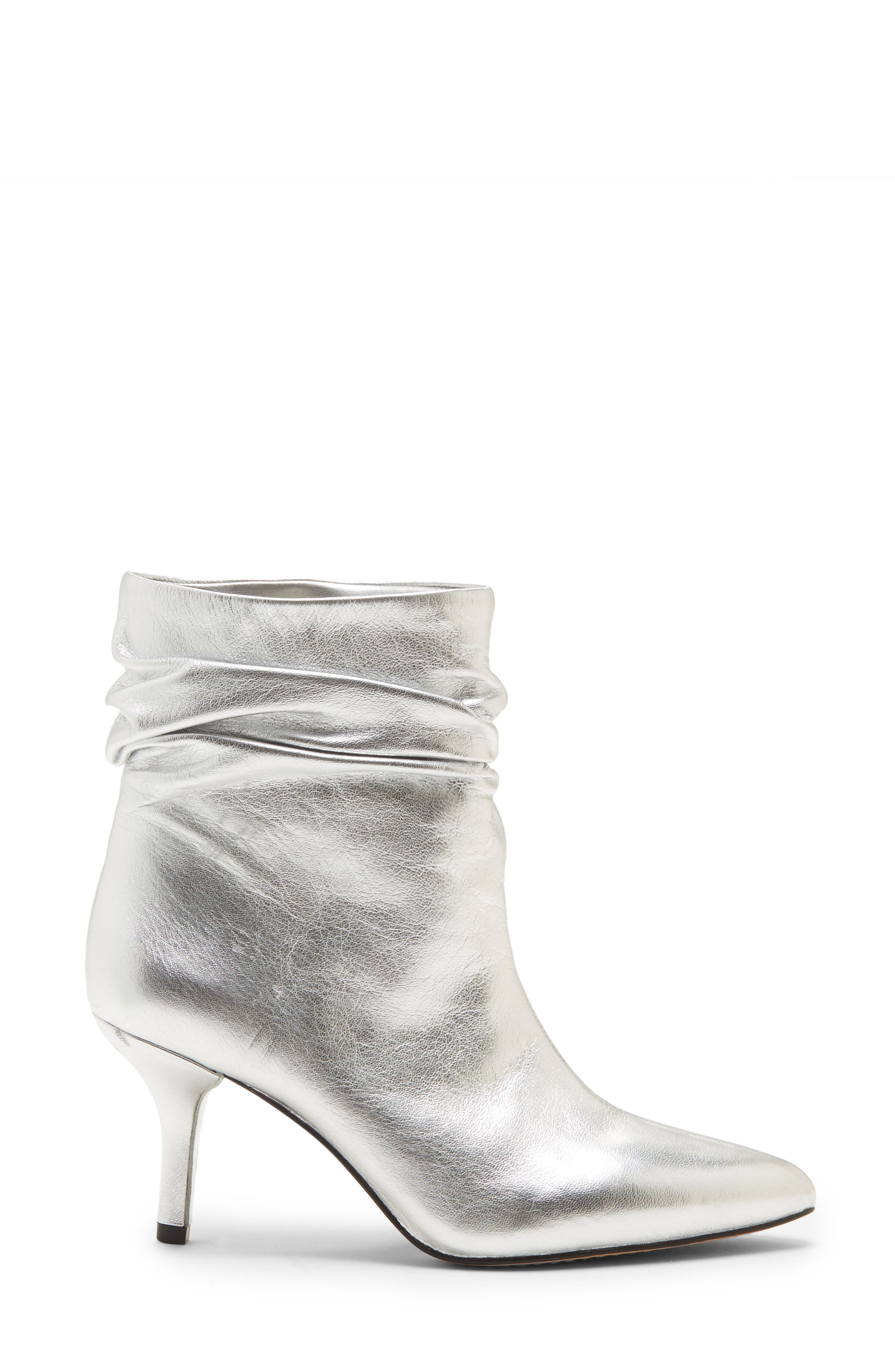 VINCE CAMUTO, Abrianna Bootie, Alternate thumbnail 3, color, GLEAMING SILVER LEATHER