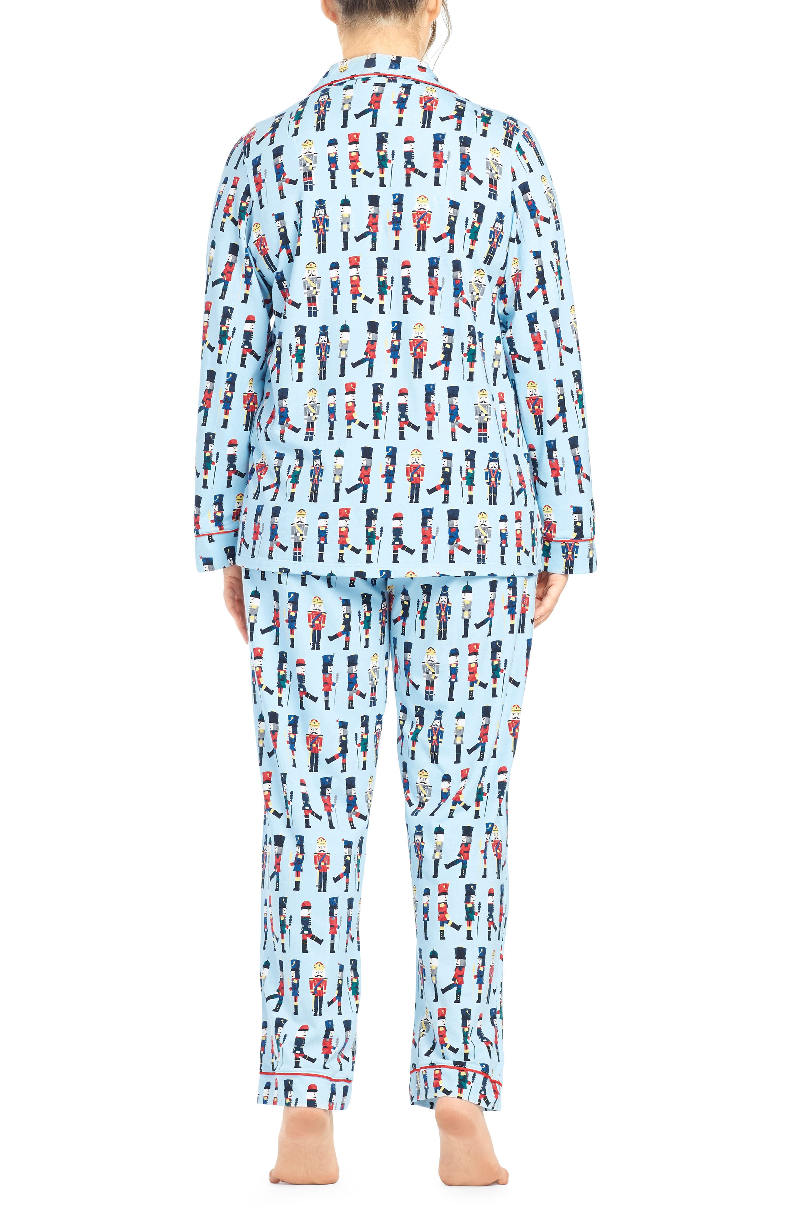 BEDHEAD, Classic Print Pajamas, Alternate thumbnail 2, color, MARCH ON