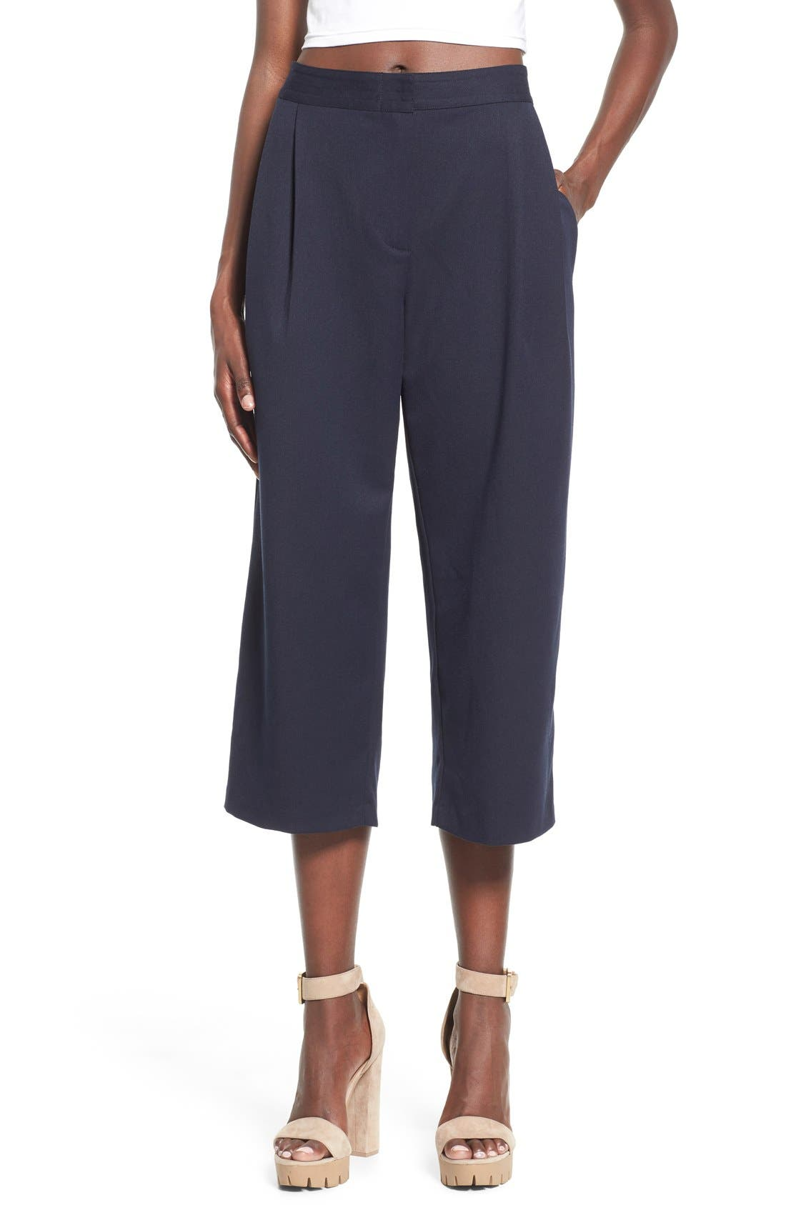 WAYF Pleated Culottes, Main, color, 410