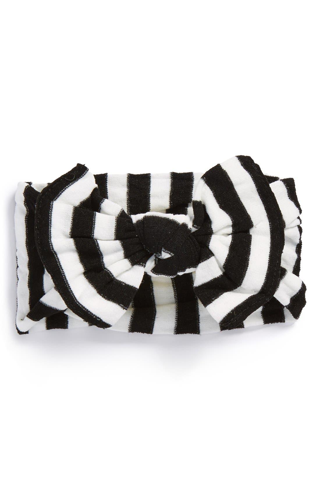 BABY BLING, Stripe Headband, Main thumbnail 1, color, BLACK