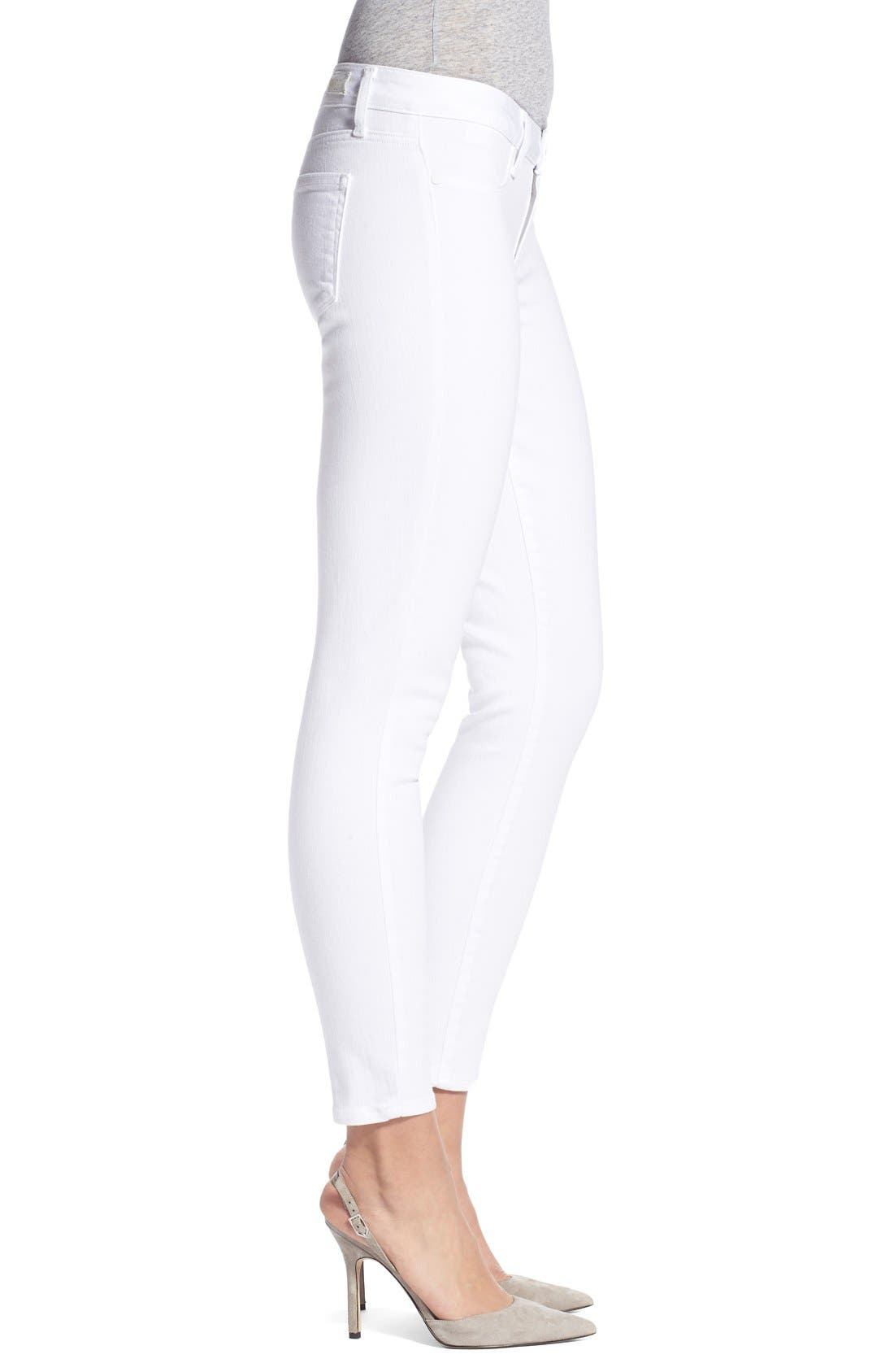 PAIGE, 'Verdugo' Ankle Skinny Jeans, Alternate thumbnail 7, color, ULTRA WHITE