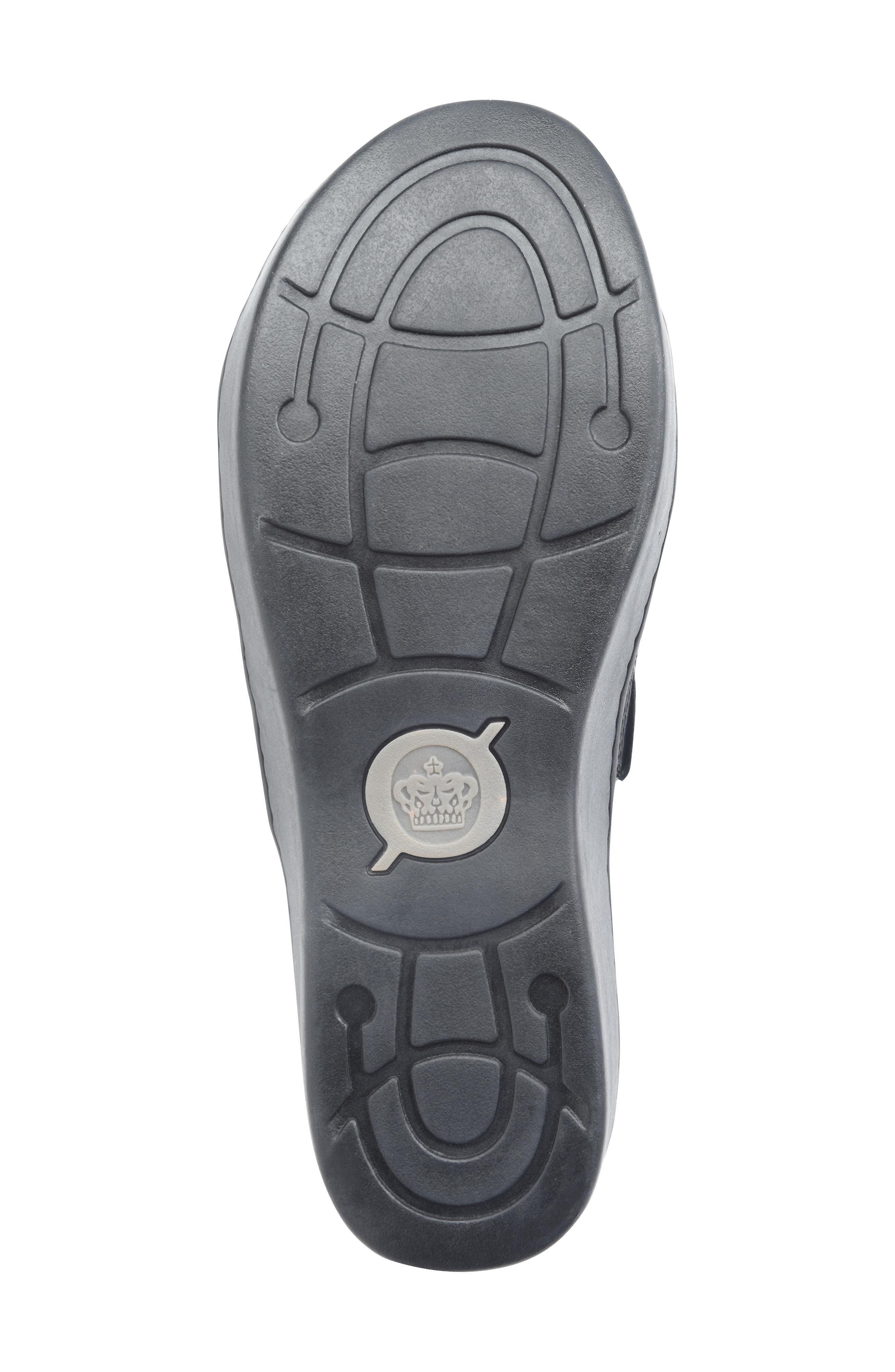BØRN, Ottawa Slide Sandal, Alternate thumbnail 6, color, BLACK LEATHER