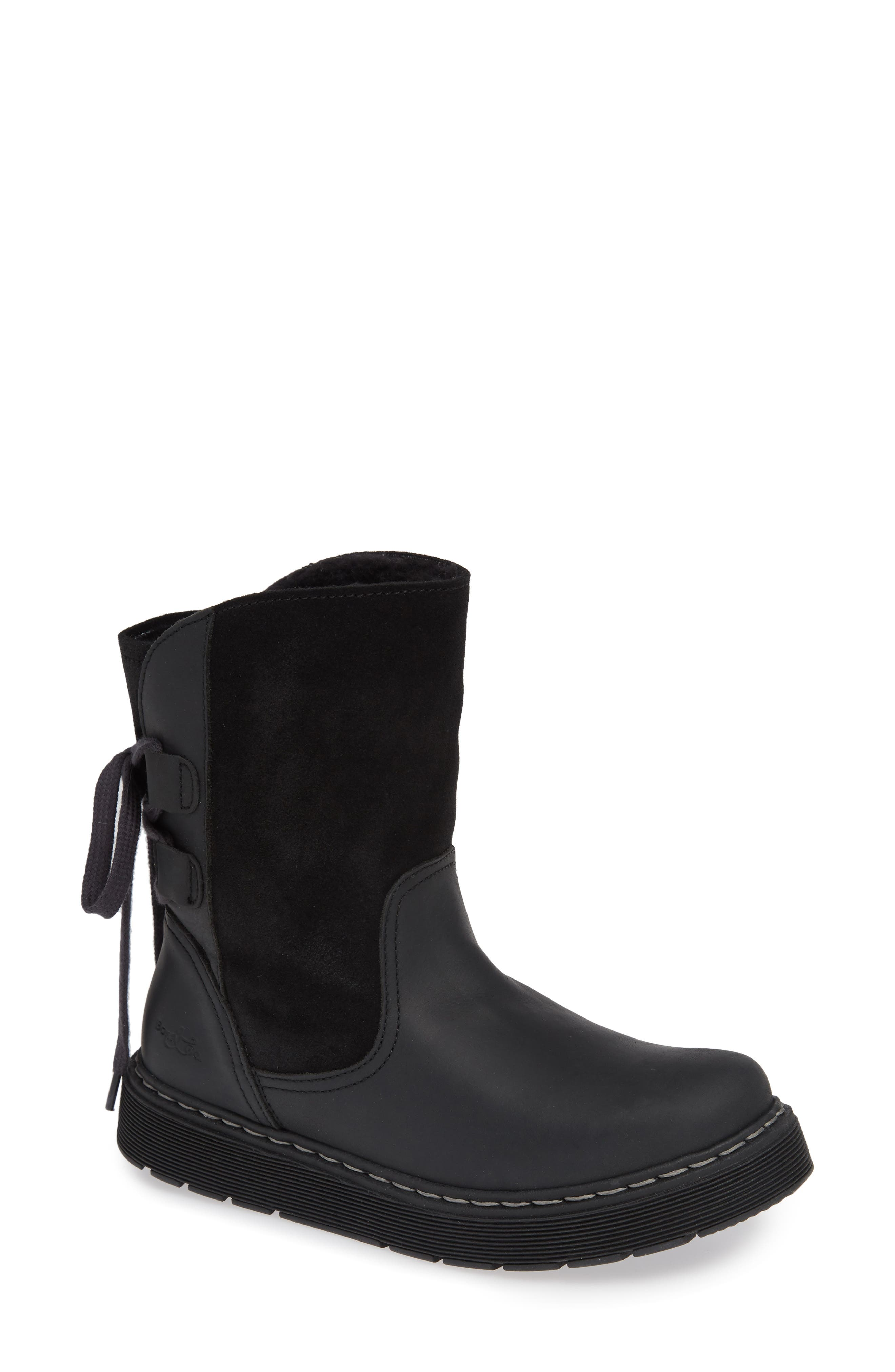 Bos. & Co. Omega Waterproof Lace-Back Boot - Black