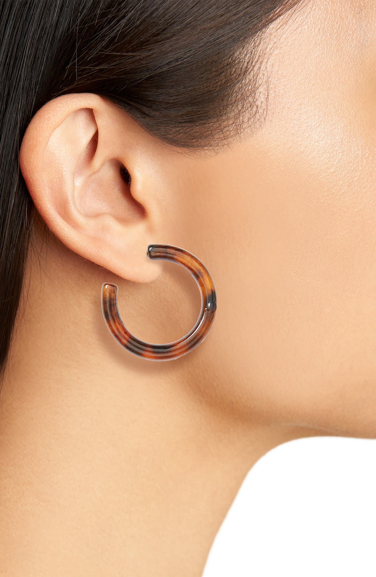 BP., Leith 3-Pack Tortoiseshell Earrings, Alternate thumbnail 2, color, 710