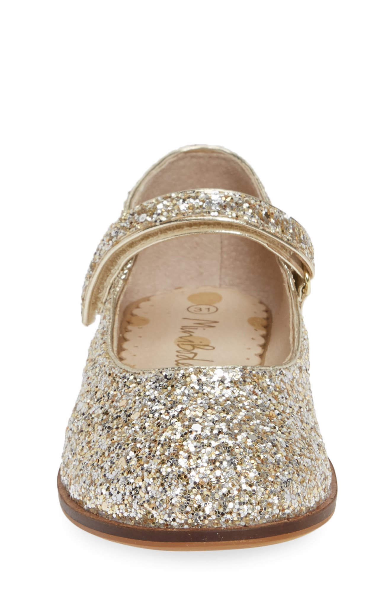 MINI BODEN, 'Fun' Mary Jane, Alternate thumbnail 4, color, SILVER/ GOLD GLITTER