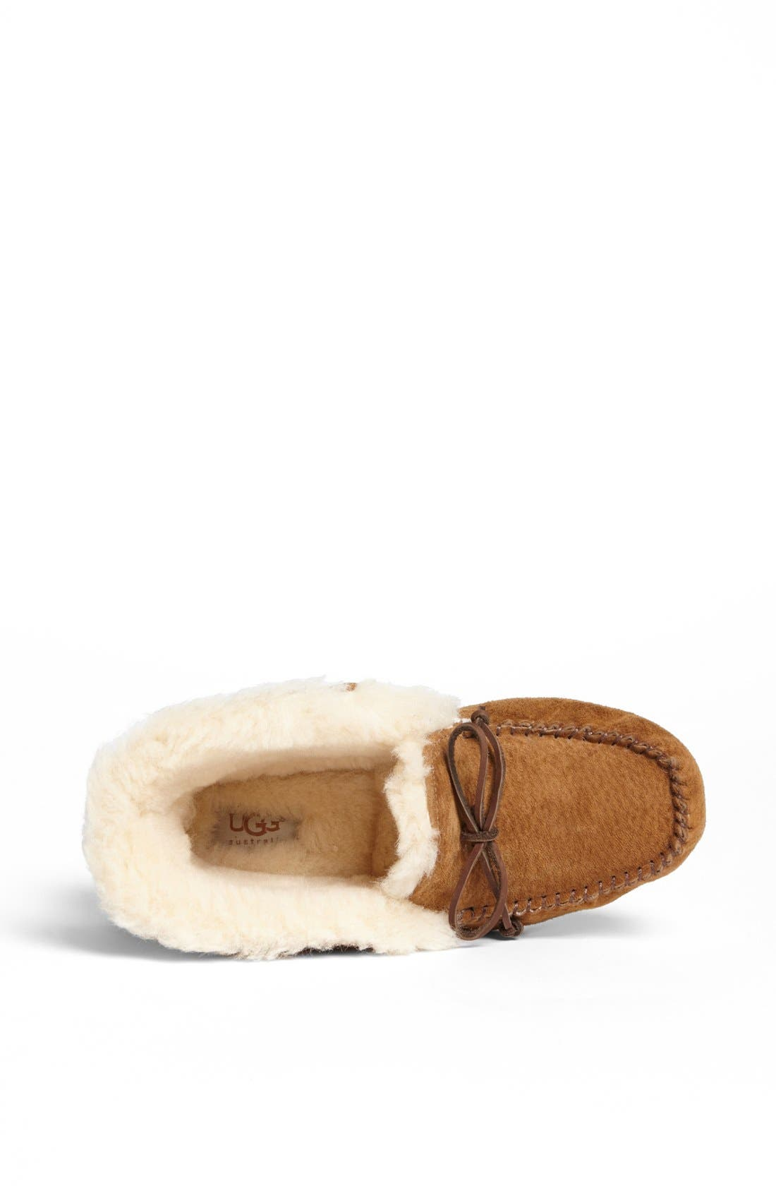 UGG<SUP>®</SUP>, UGGpure<sup>™</sup> Alena Suede Slipper Bootie, Alternate thumbnail 3, color, CHESTNUT