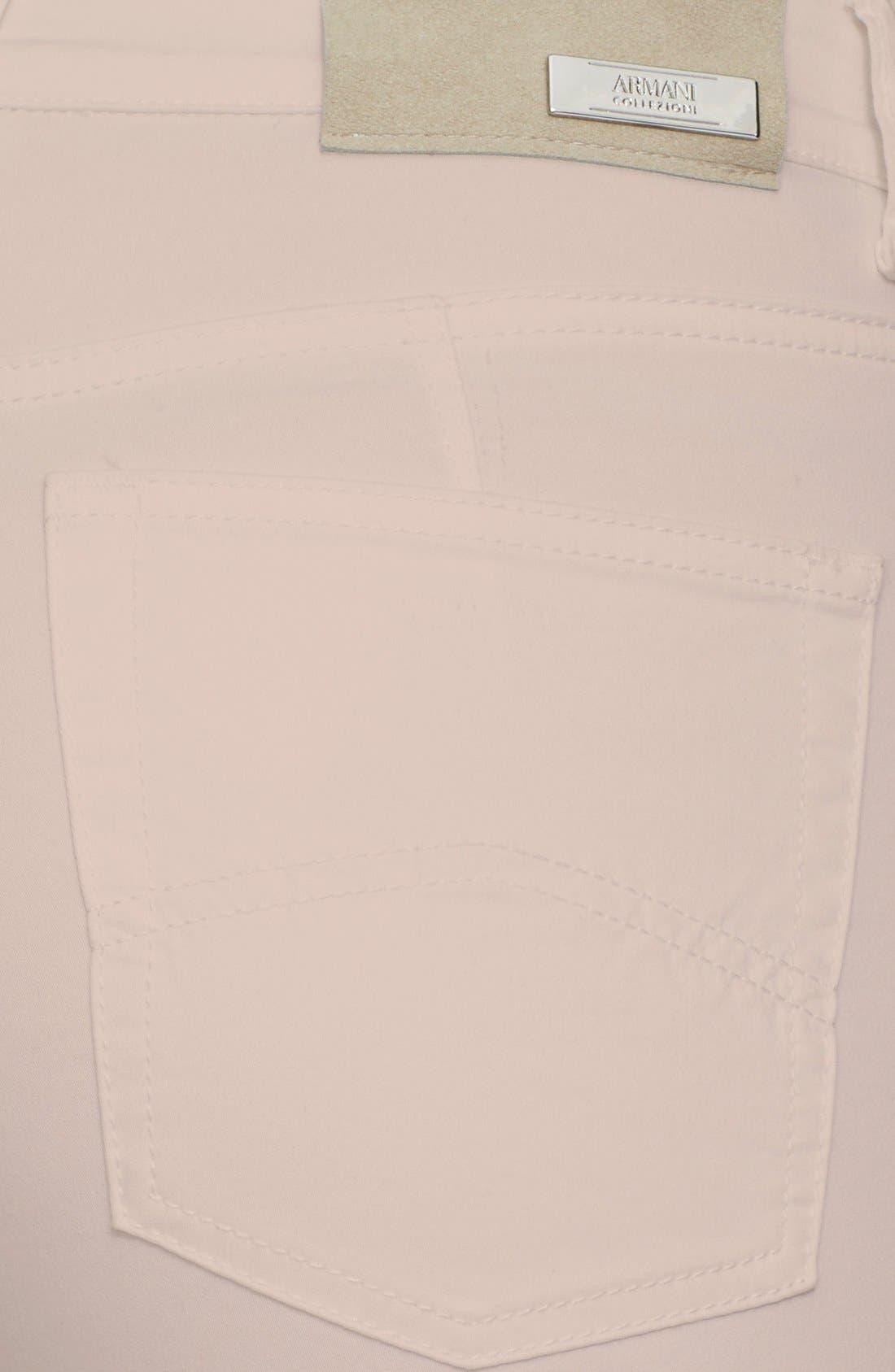 ARMANI COLLEZIONI, Slim Brushed Cotton Jeans, Alternate thumbnail 2, color, 272