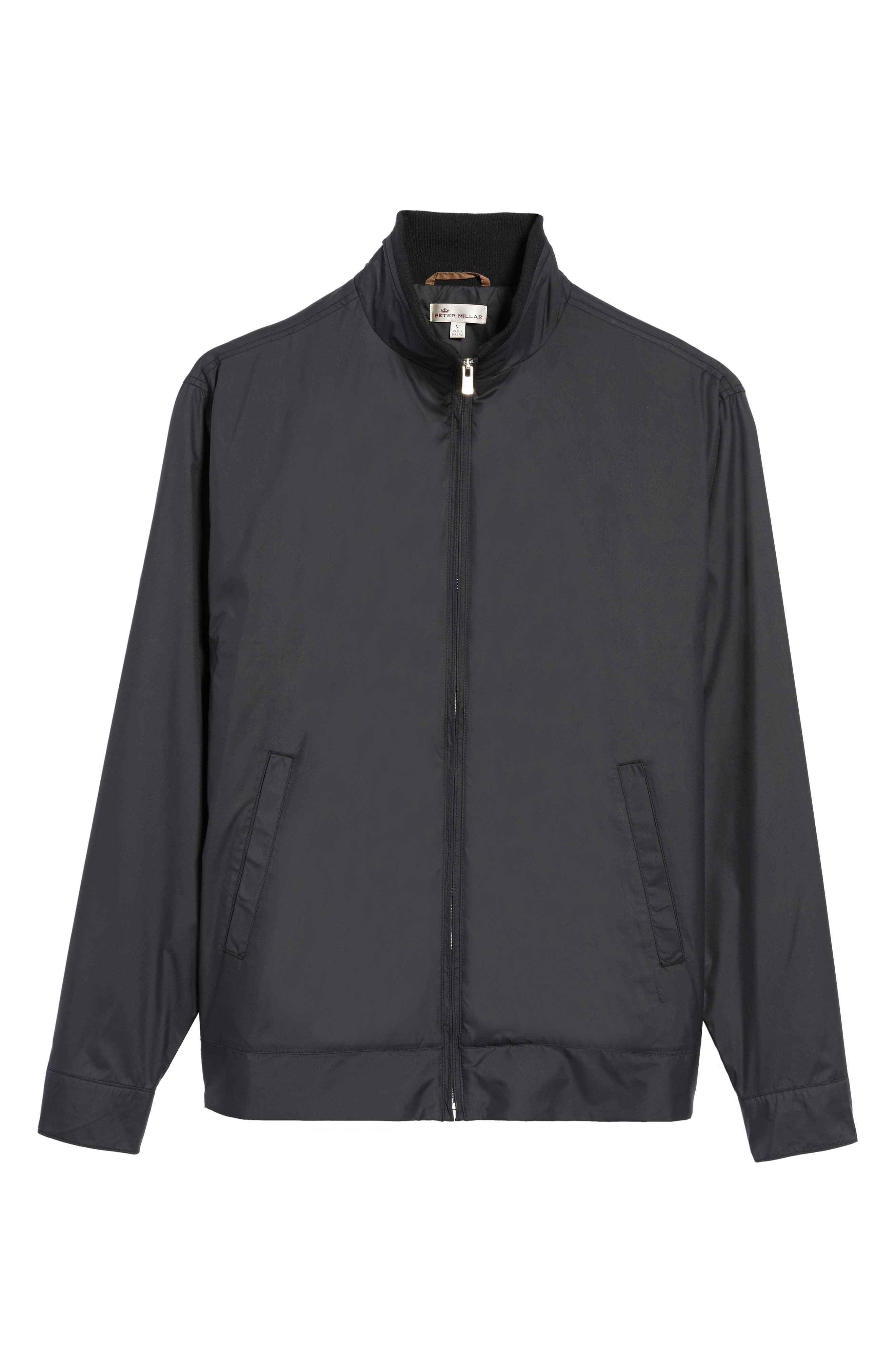 PETER MILLAR, Zip Jacket, Alternate thumbnail 6, color, BLACK