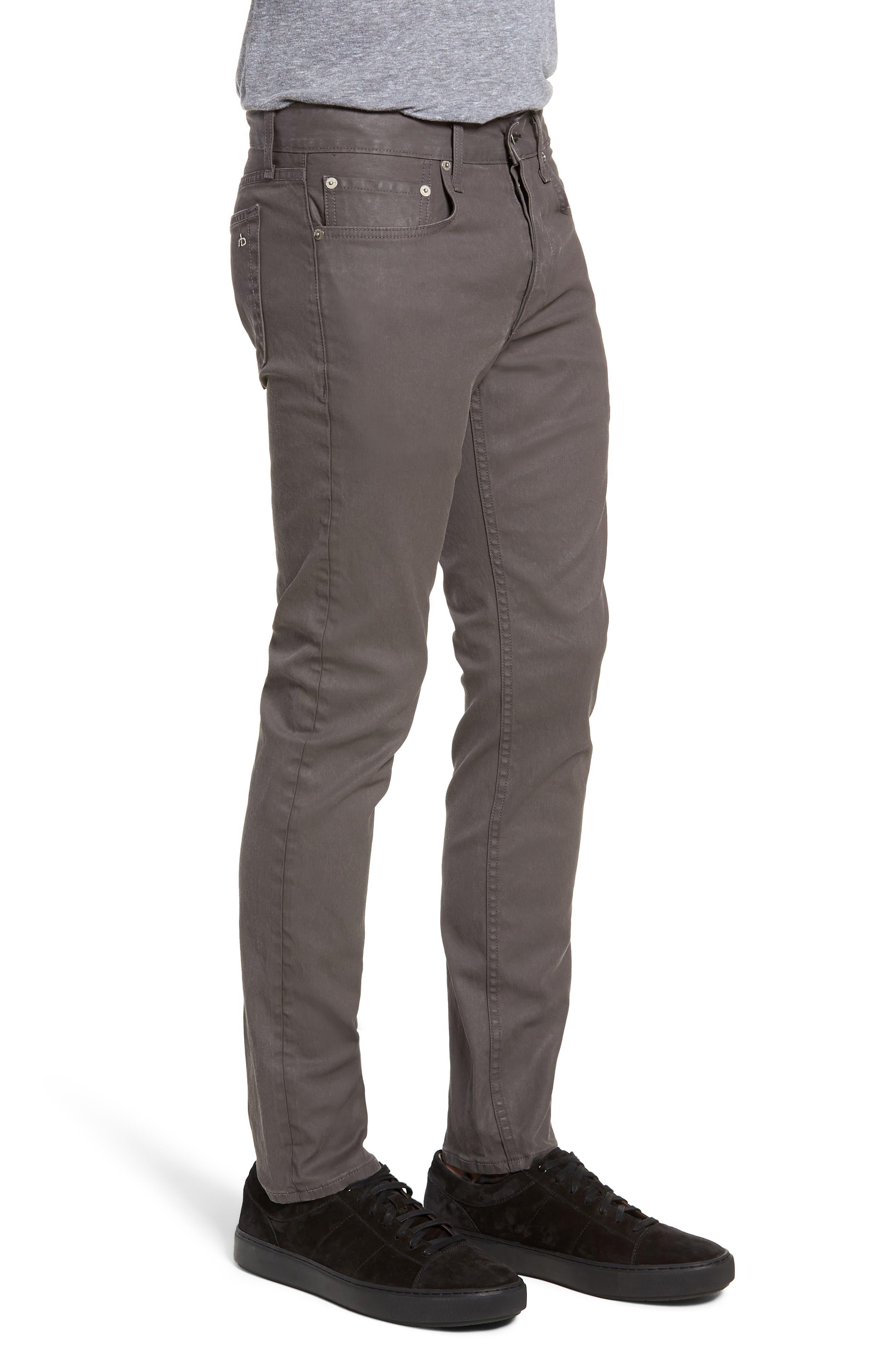 RAG & BONE, Fit 2 Slim Fit Pants, Alternate thumbnail 3, color, 020