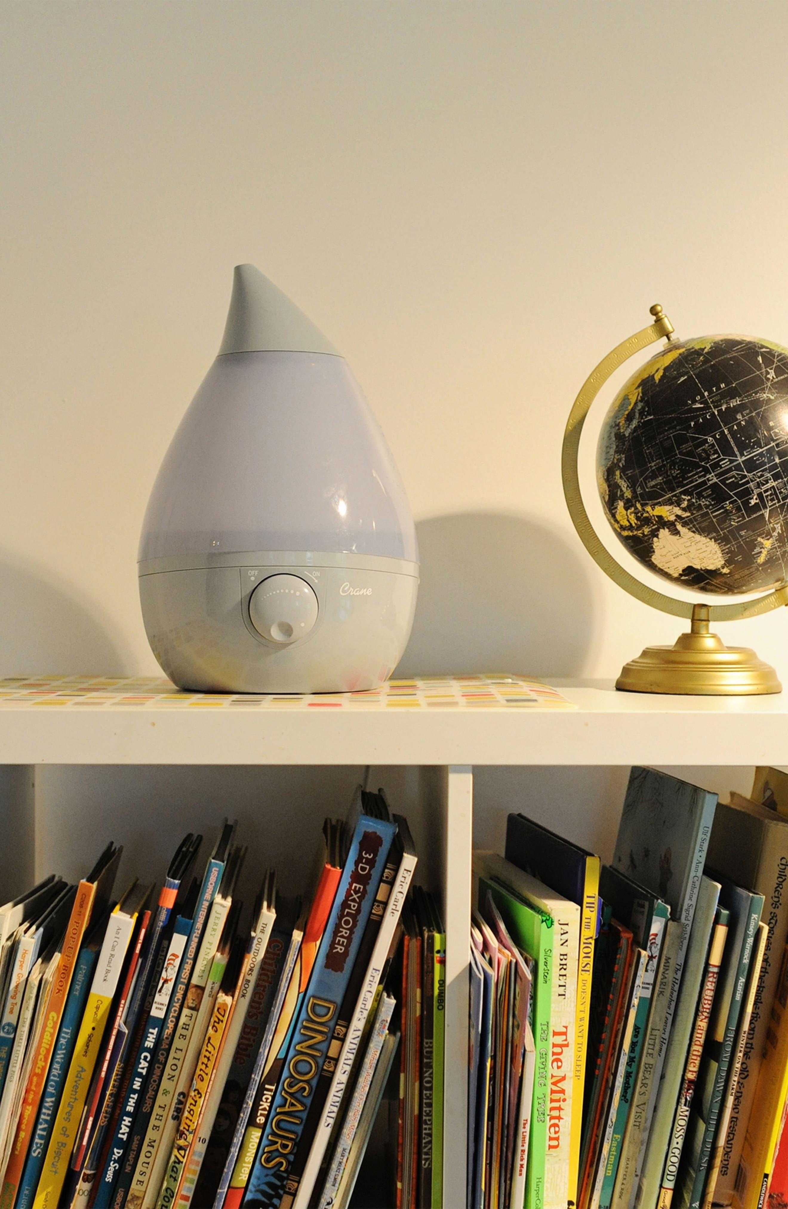 CRANE AIR, 'Droplet' Humidifier, Alternate thumbnail 6, color, GREY