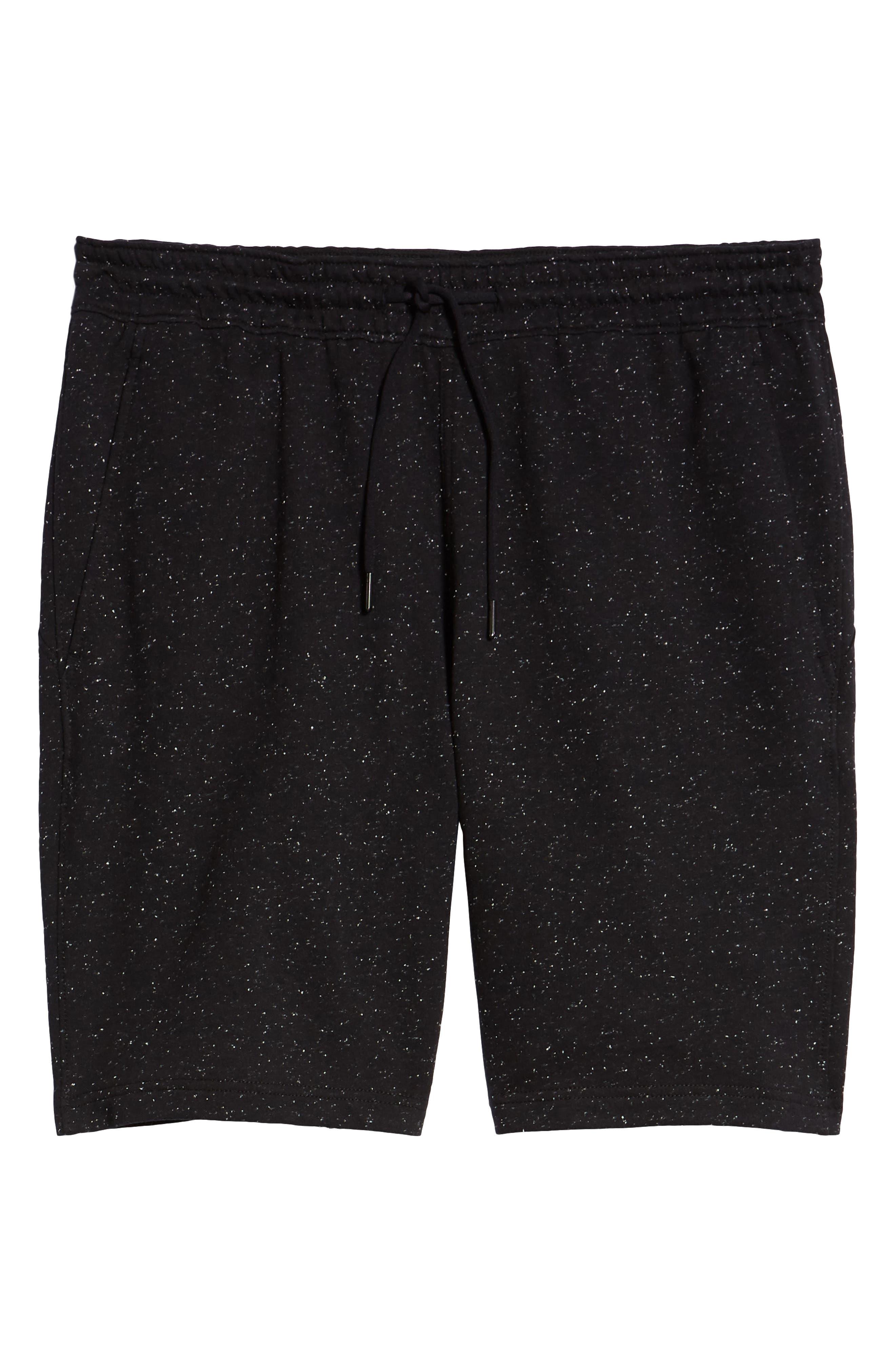 ZELLA, Neppy Fleece Athletic Shorts, Alternate thumbnail 7, color, 001