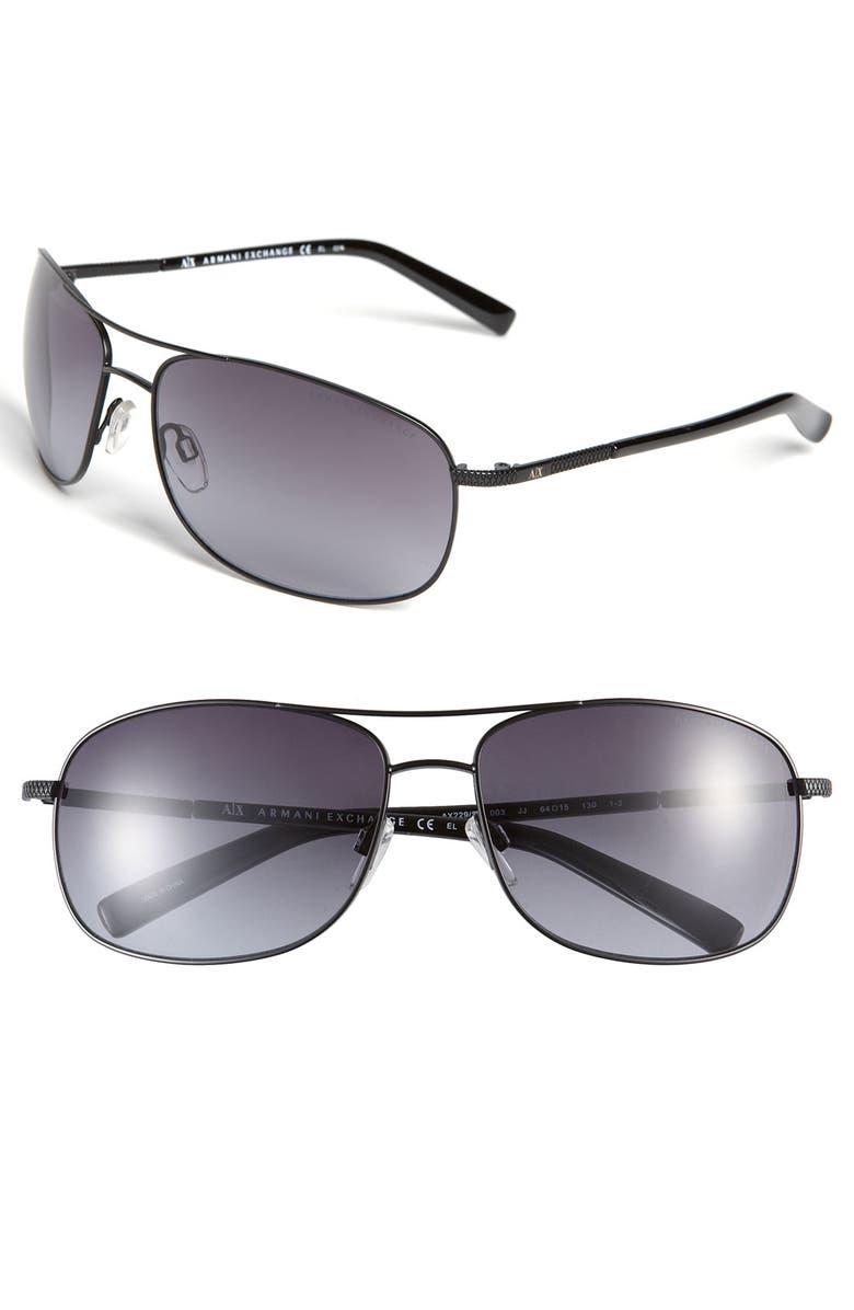 7856560312ec AX Armani Exchange Metal Navigator Sunglasses