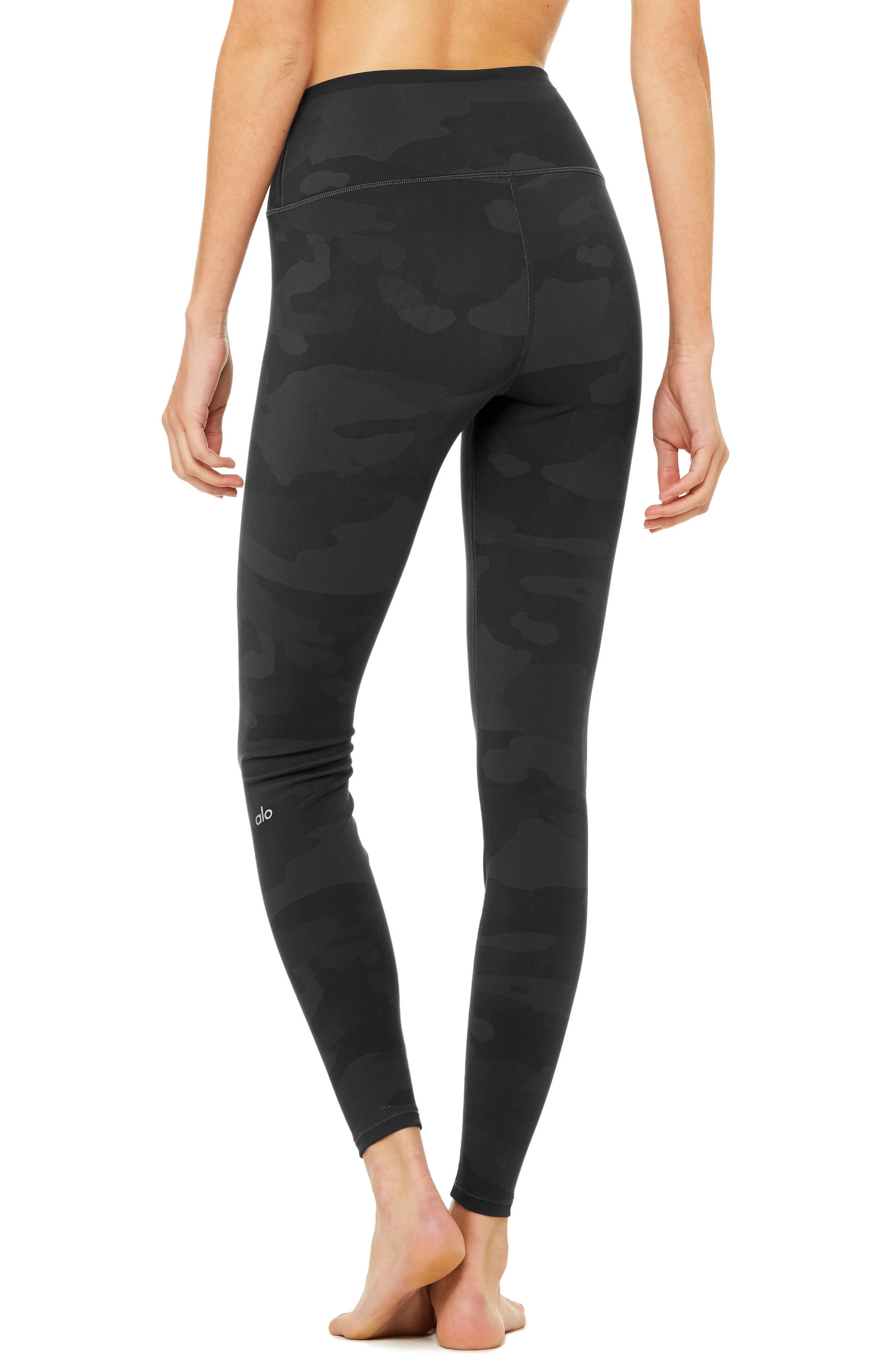 ALO, Vapor High Waist Leggings, Alternate thumbnail 2, color, 011