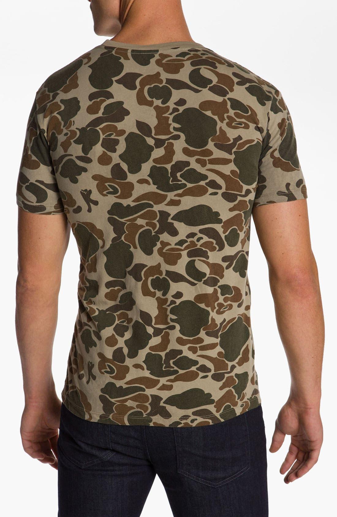 OBEY, Camo Pocket T-Shirt, Alternate thumbnail 3, color, 230