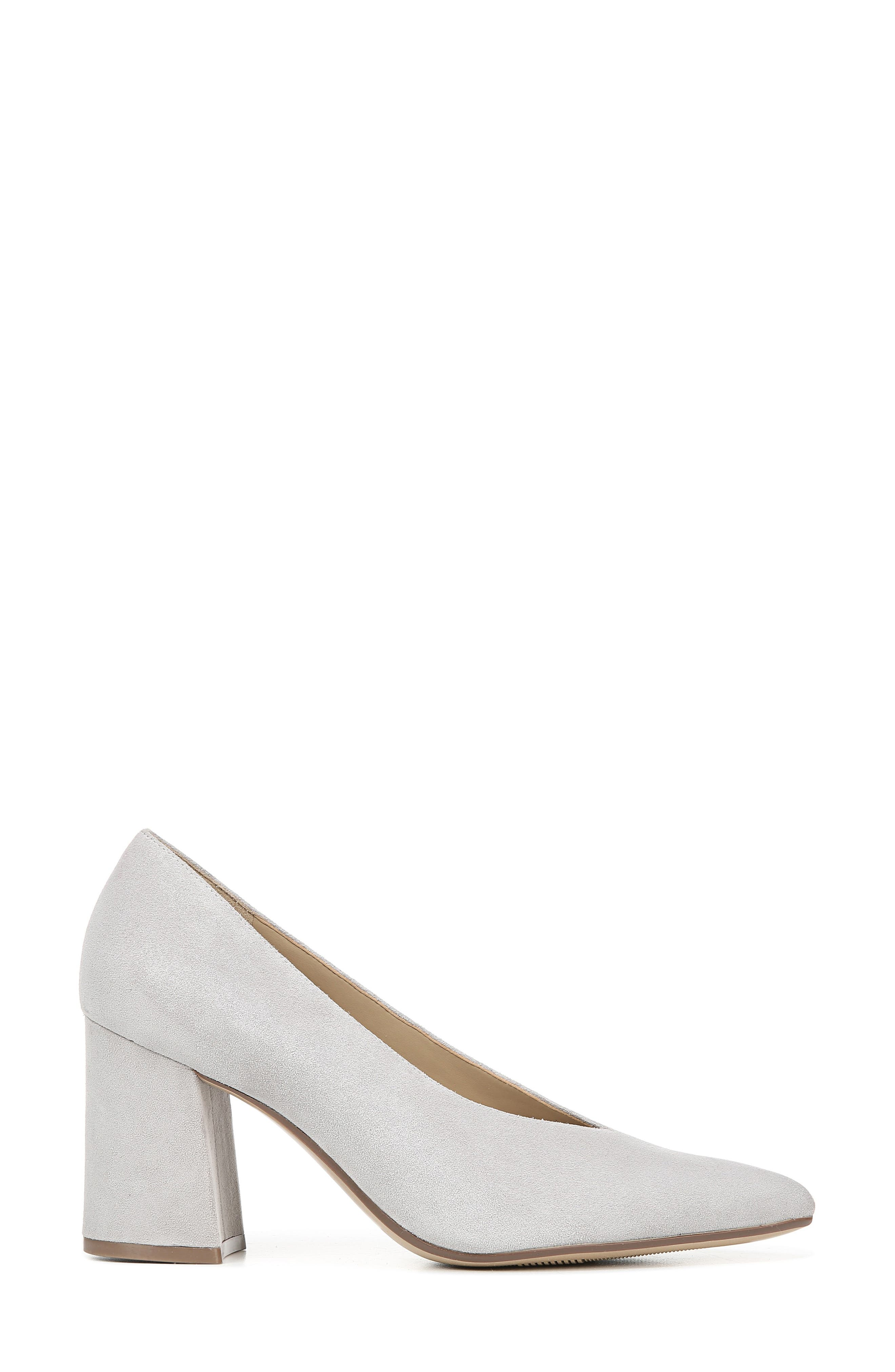 NATURALIZER, Hope Pointy Toe Pump, Alternate thumbnail 3, color, ICY GREY SUEDE