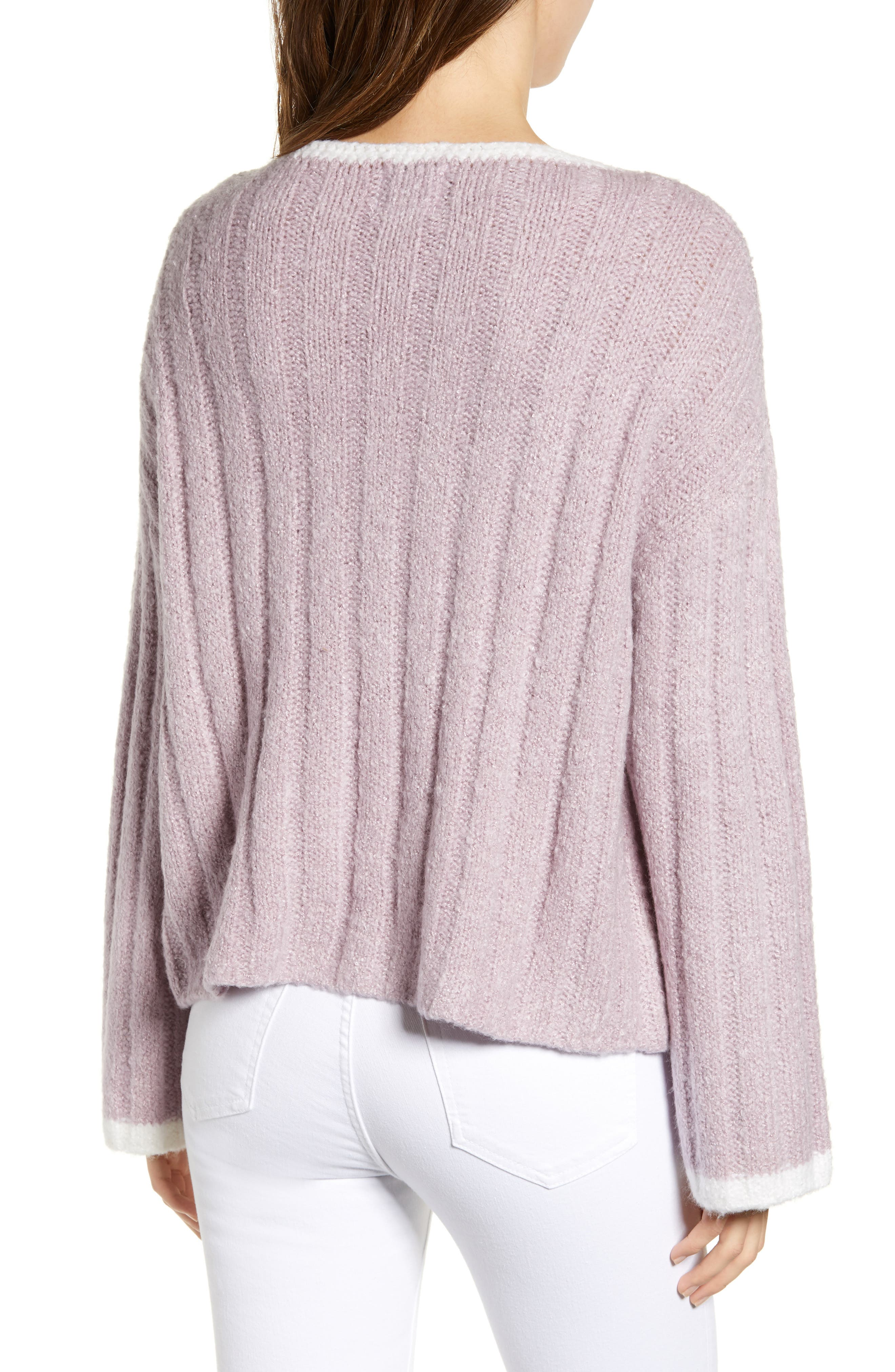 J.O.A., Oversize Sweater, Alternate thumbnail 2, color, LAVENDER