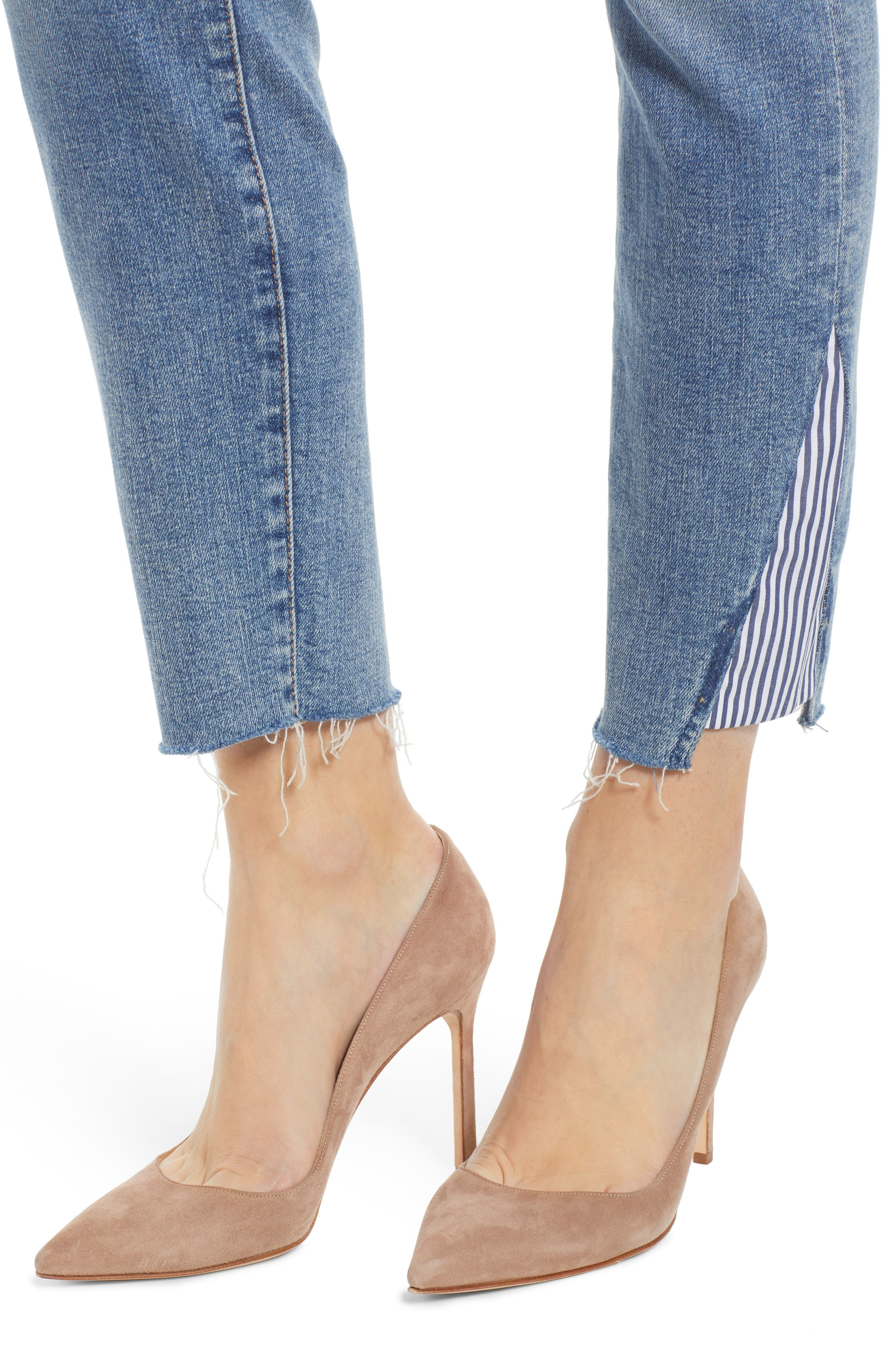 7 FOR ALL MANKIND<SUP>®</SUP>, Stripe Inset Ankle Skinny Jeans, Alternate thumbnail 5, color, SLOANE VINTAGE