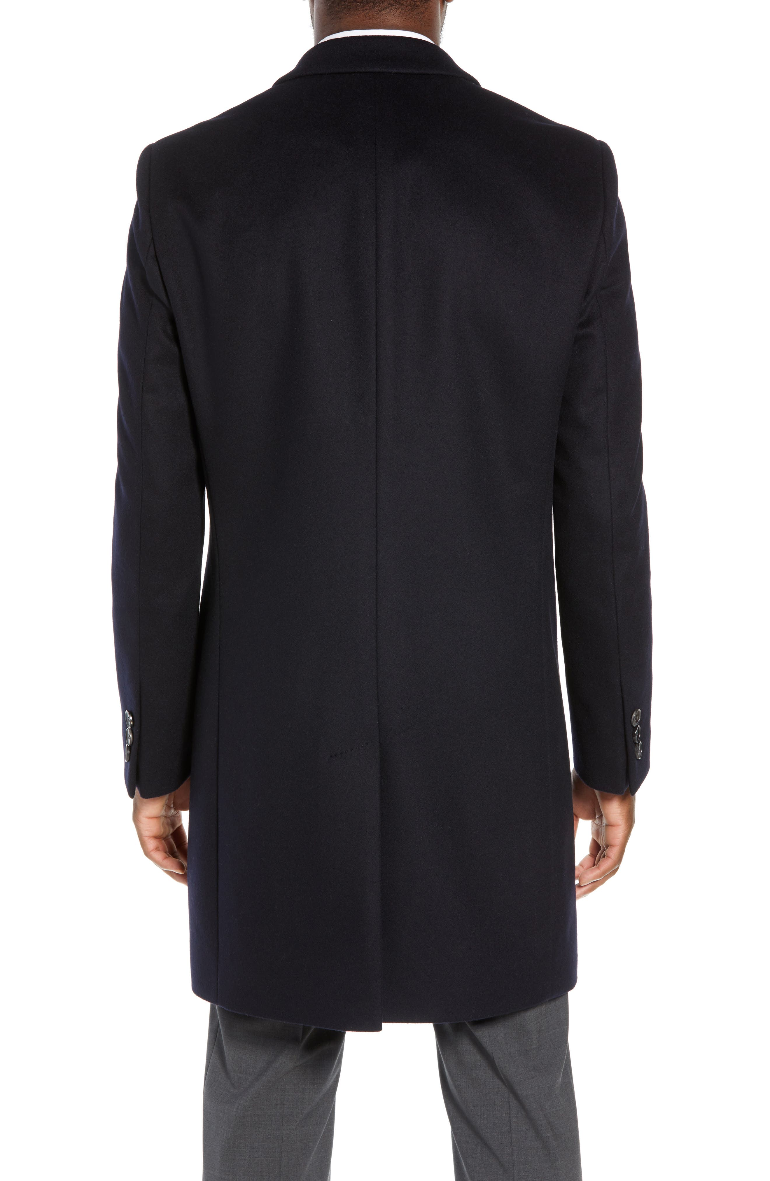 BOSS, Nye Regular Fit Solid Wool & Cashmere Topcoat, Alternate thumbnail 2, color, 402