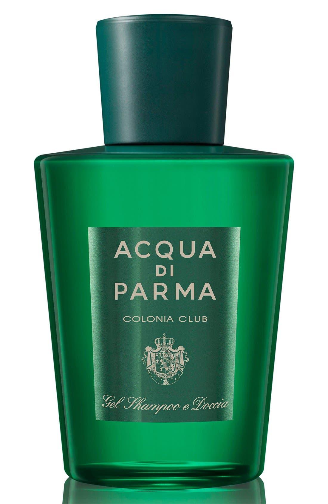 ACQUA DI PARMA, 'Colonia Club' Hair & Shower Gel, Main thumbnail 1, color, NO COLOR