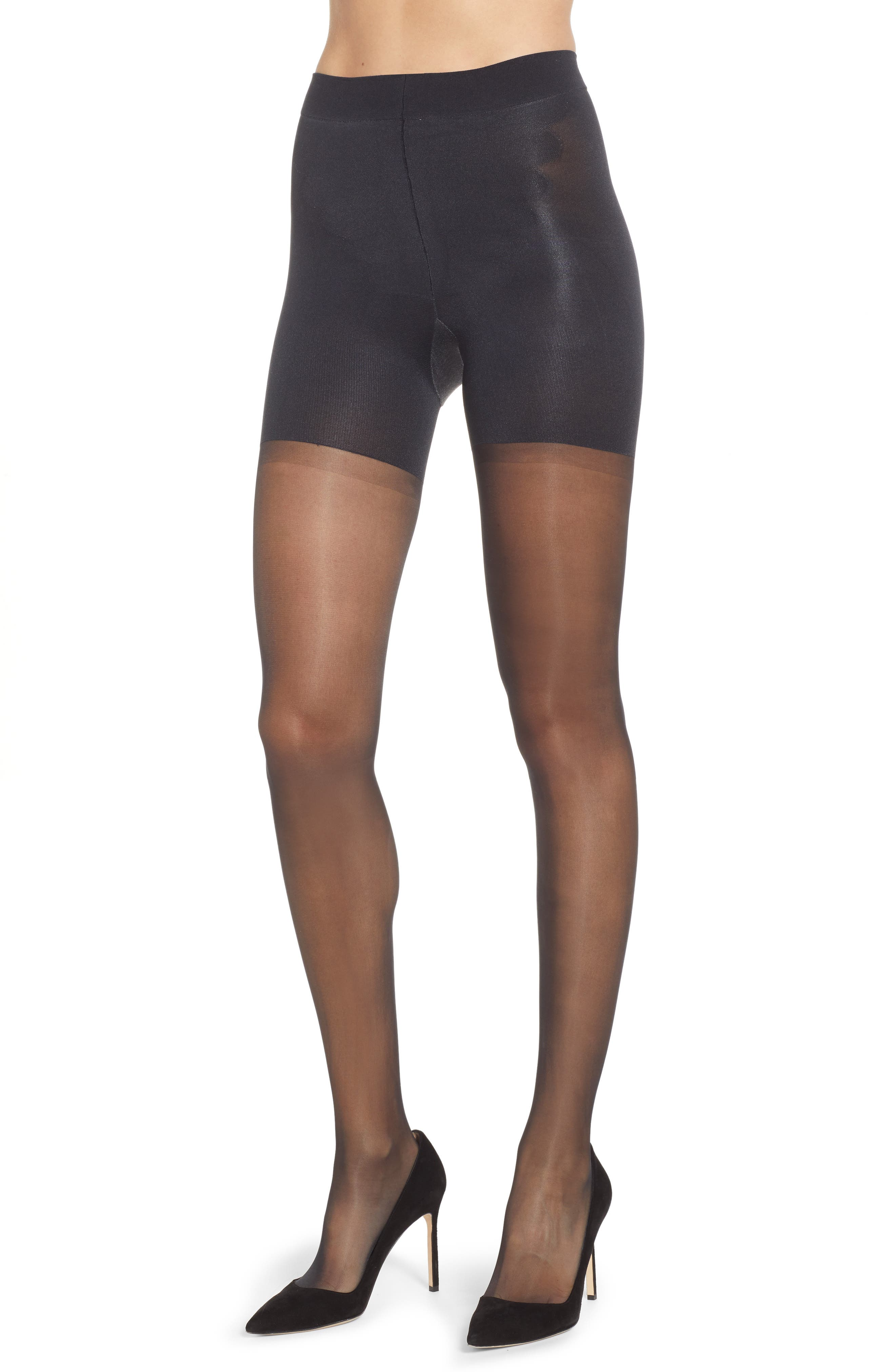 SPANX<SUP>®</SUP> Graduated Compression Shaping Sheers, Main, color, BLACK