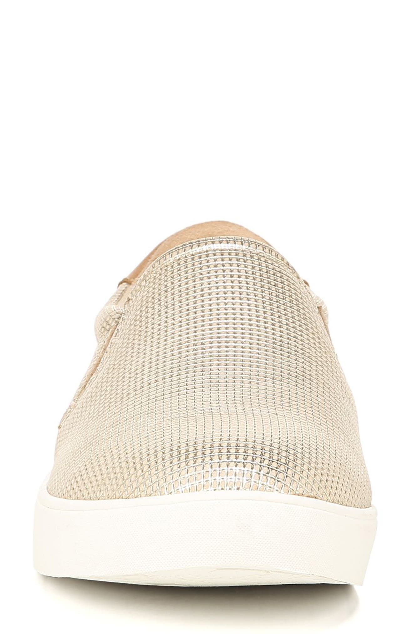 DR. SCHOLL'S, Original Collection 'Scout' Slip On Sneaker, Alternate thumbnail 4, color, BEIGE LEATHER