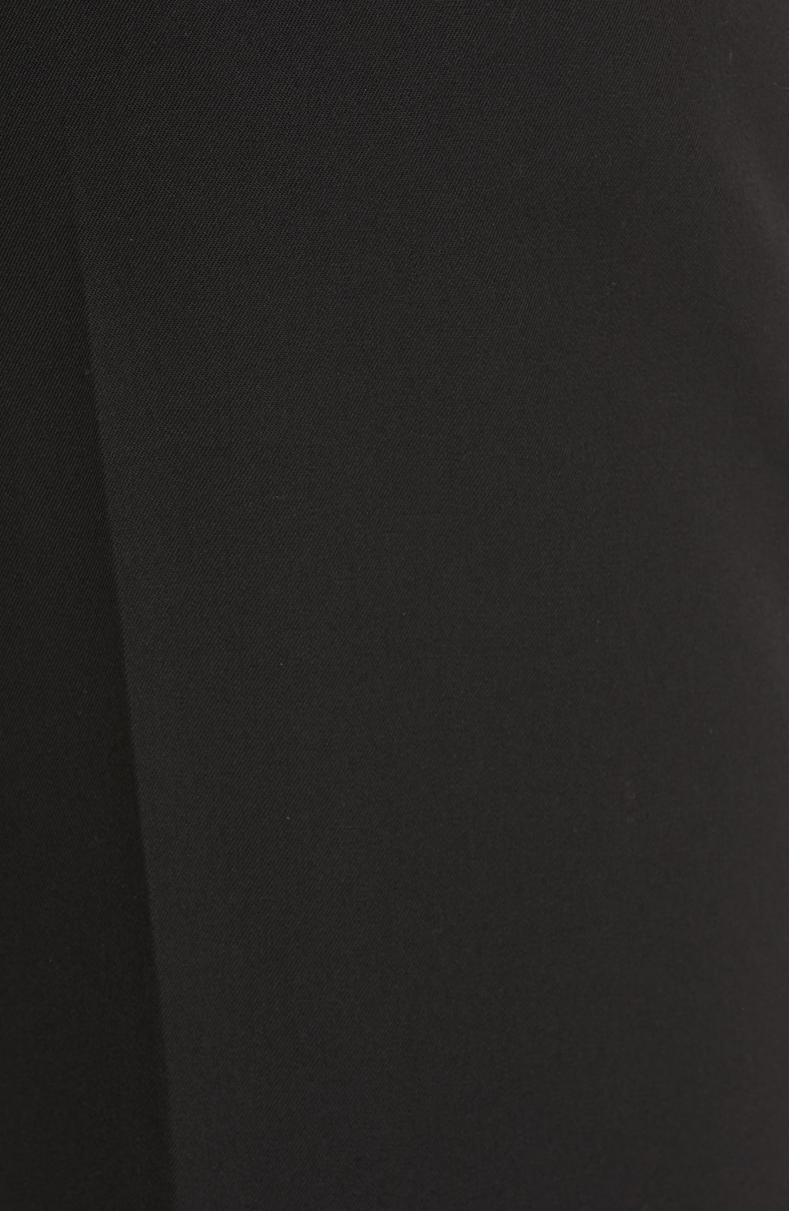 CALVIN KLEIN 205W39NYC, Pleated Gabardine Wool Trousers, Alternate thumbnail 5, color, BLACK