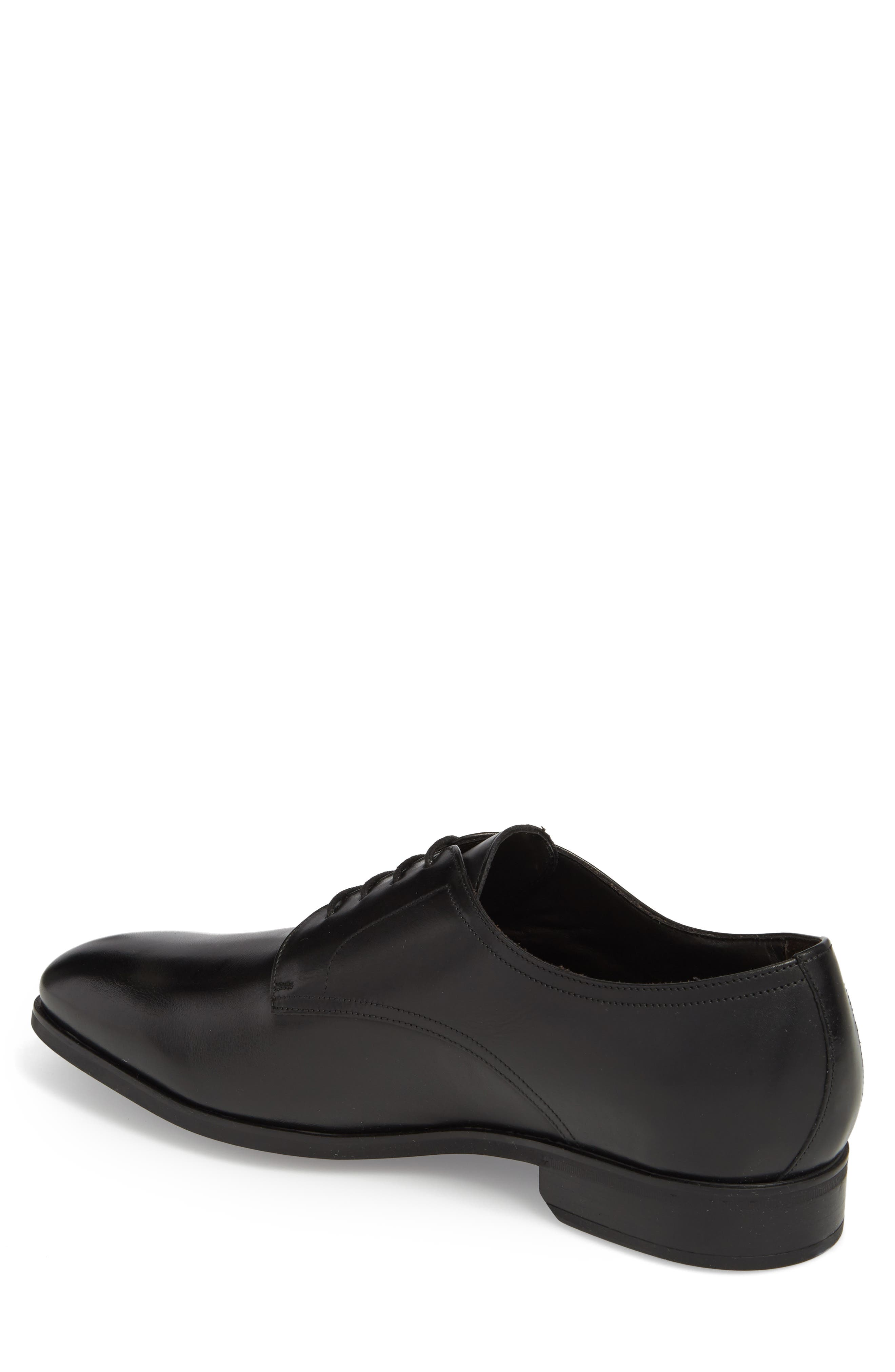 TO BOOT NEW YORK, Dwight Plain Toe Derby, Alternate thumbnail 2, color, BLACK LEATHER