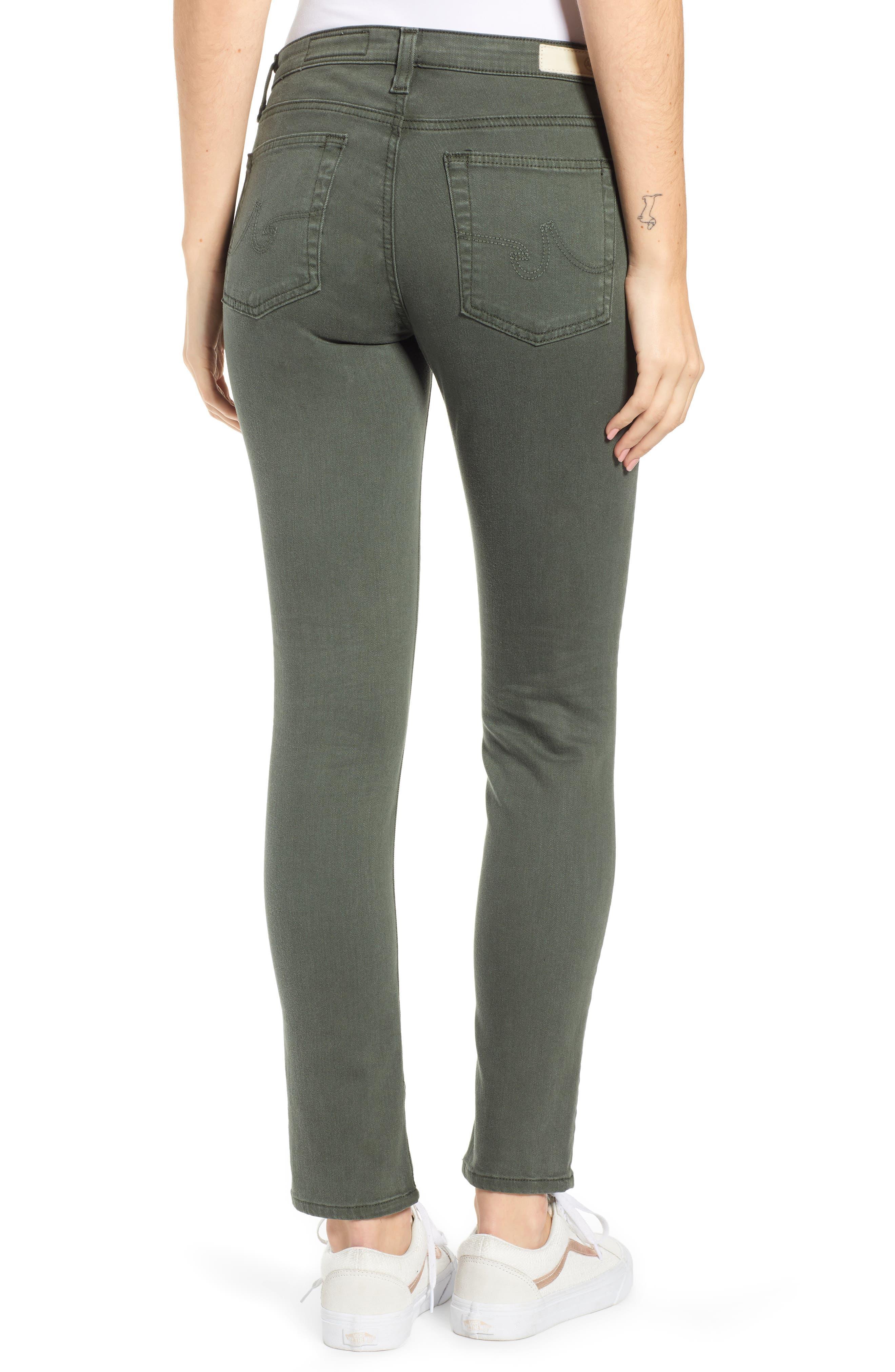 AG, The Prima Ankle Cigarette Jeans, Alternate thumbnail 2, color, 01Y SULFUR ASH GREEN