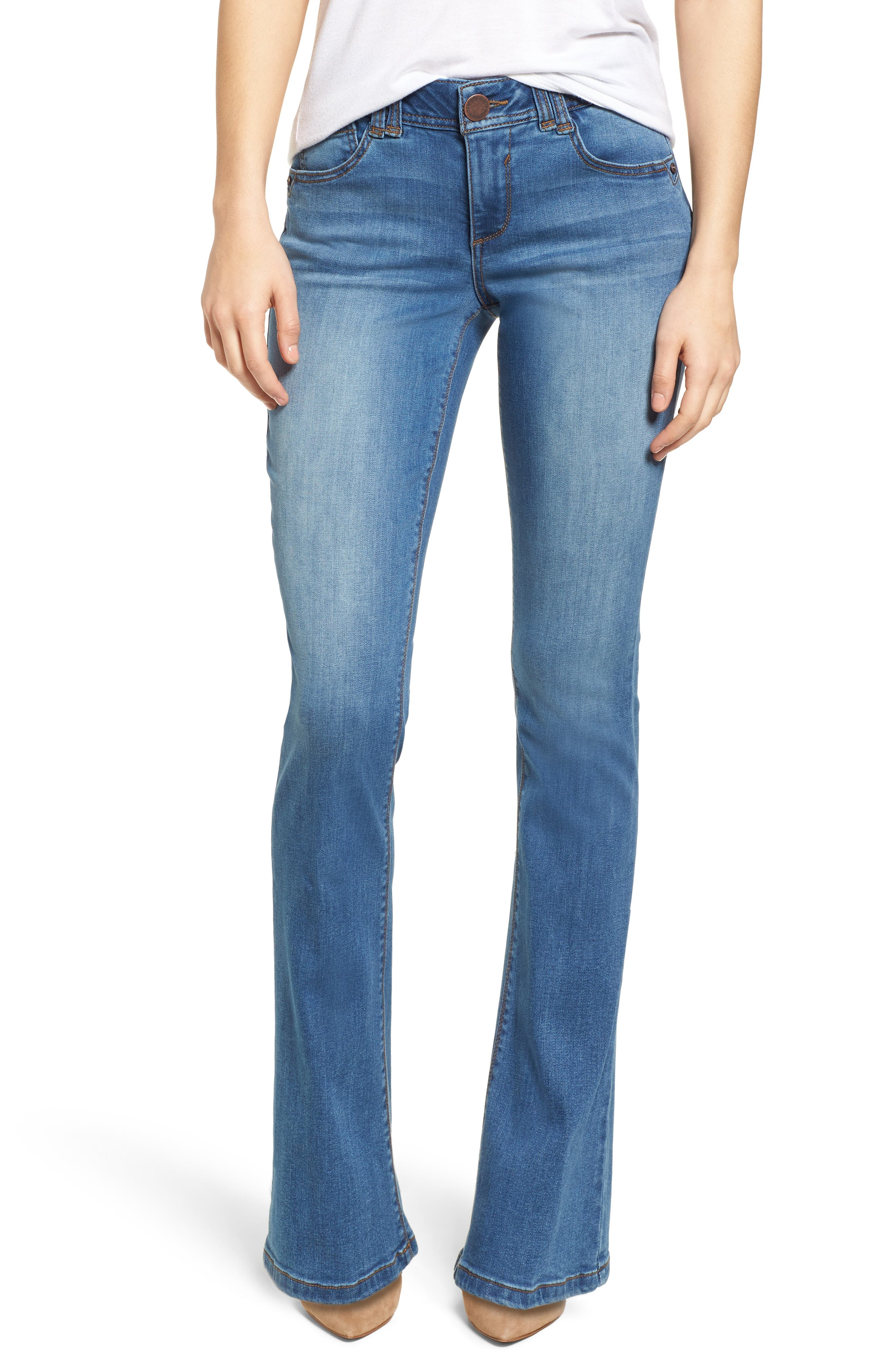 WIT & WISDOM Ab-solution Itty Bitty Bootcut Jeans, Main, color, LIGHT BLUE
