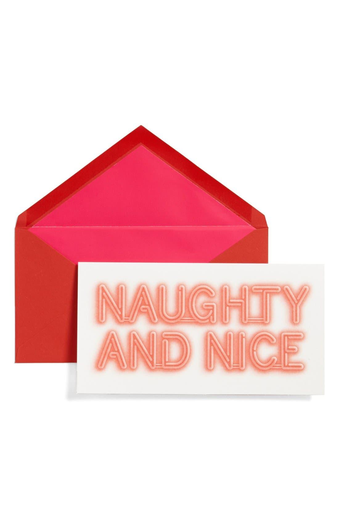 KATE SPADE NEW YORK, 'naughty and nice' holiday cards, Main thumbnail 1, color, 600