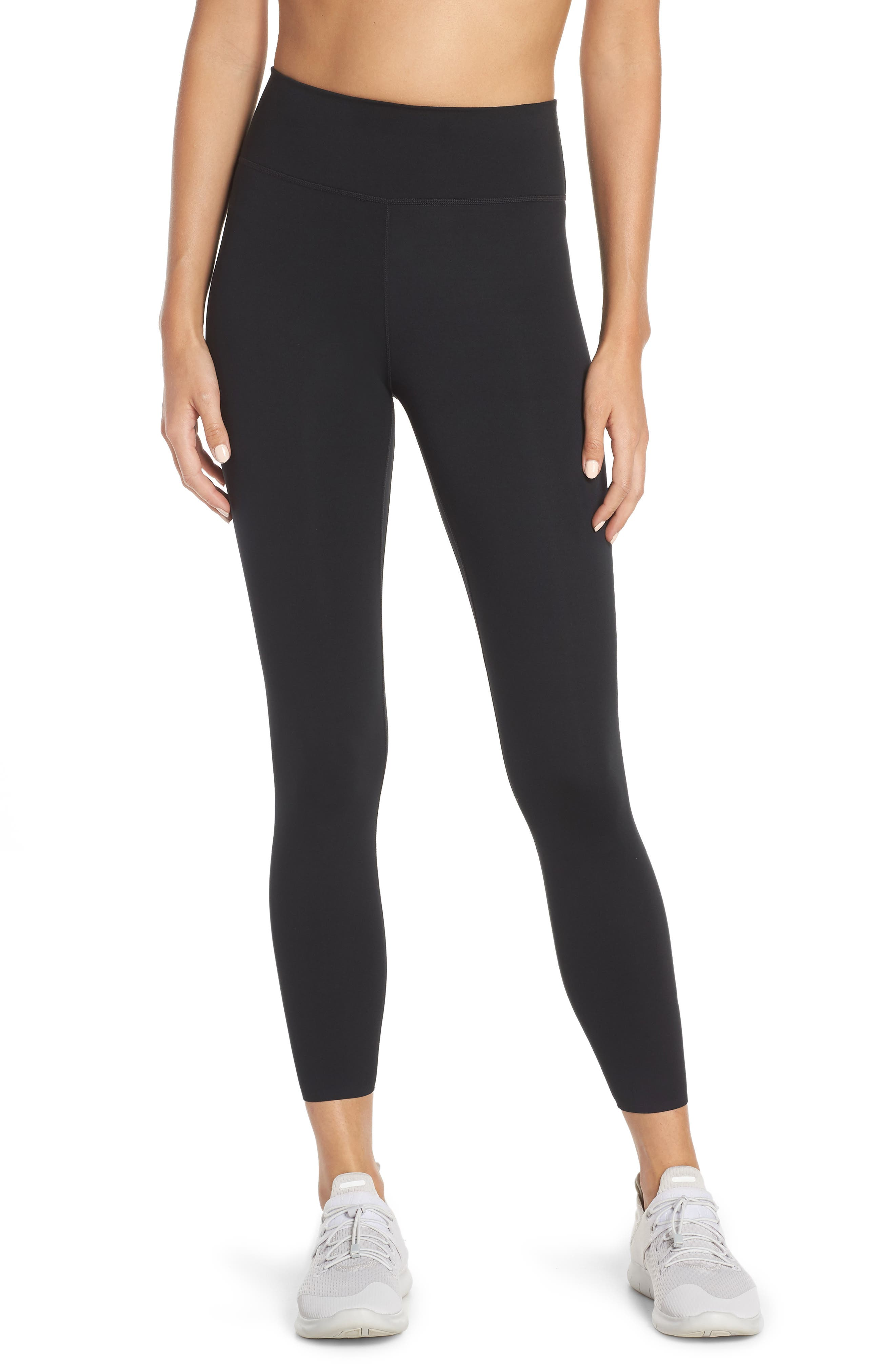 NIKE, One Lux Ankle Tights, Main thumbnail 1, color, BLACK/ CLEAR