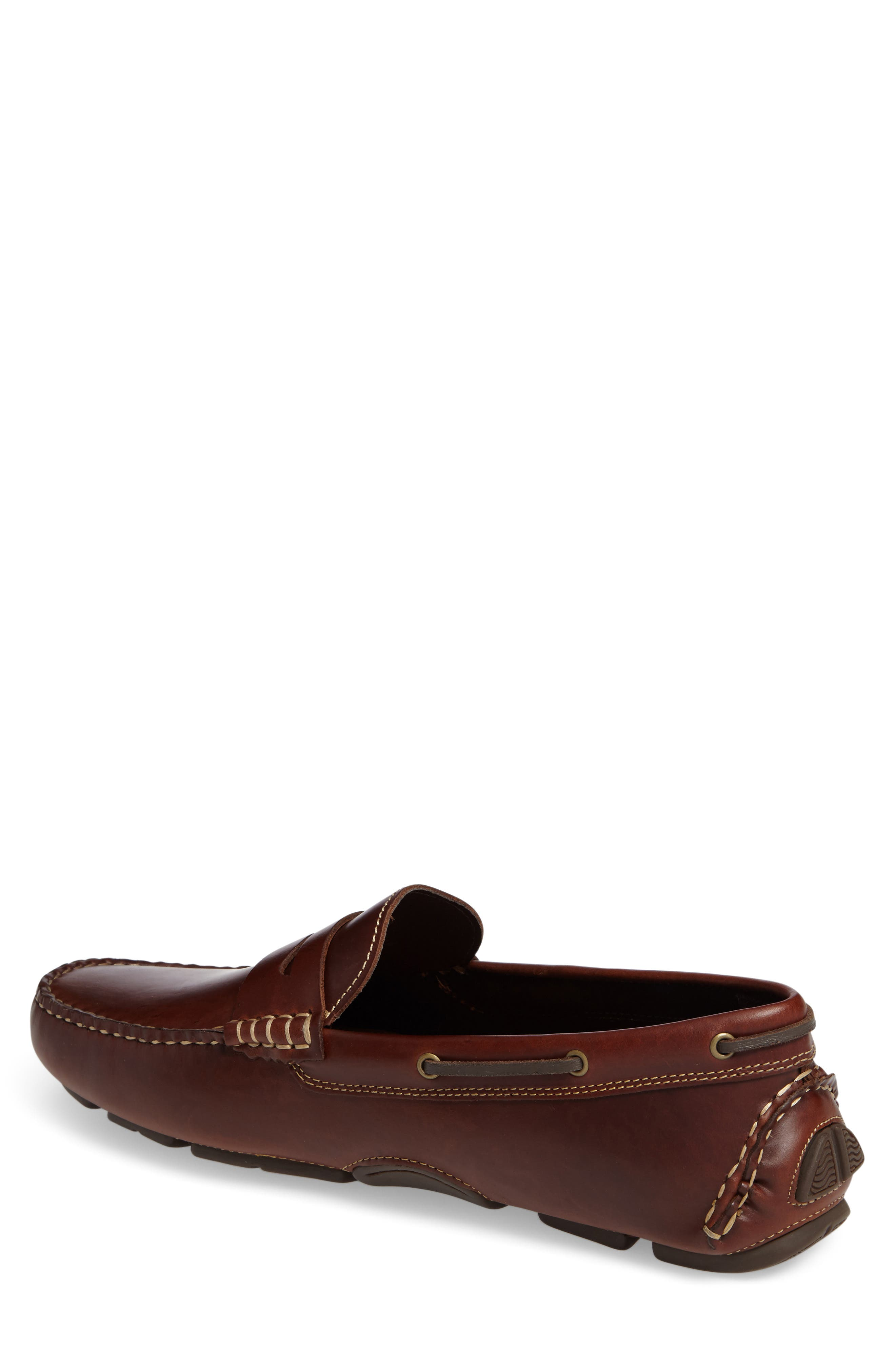 JOHNSTON & MURPHY, Gibson Penny Driving Loafer, Alternate thumbnail 2, color, TAN LEATHER